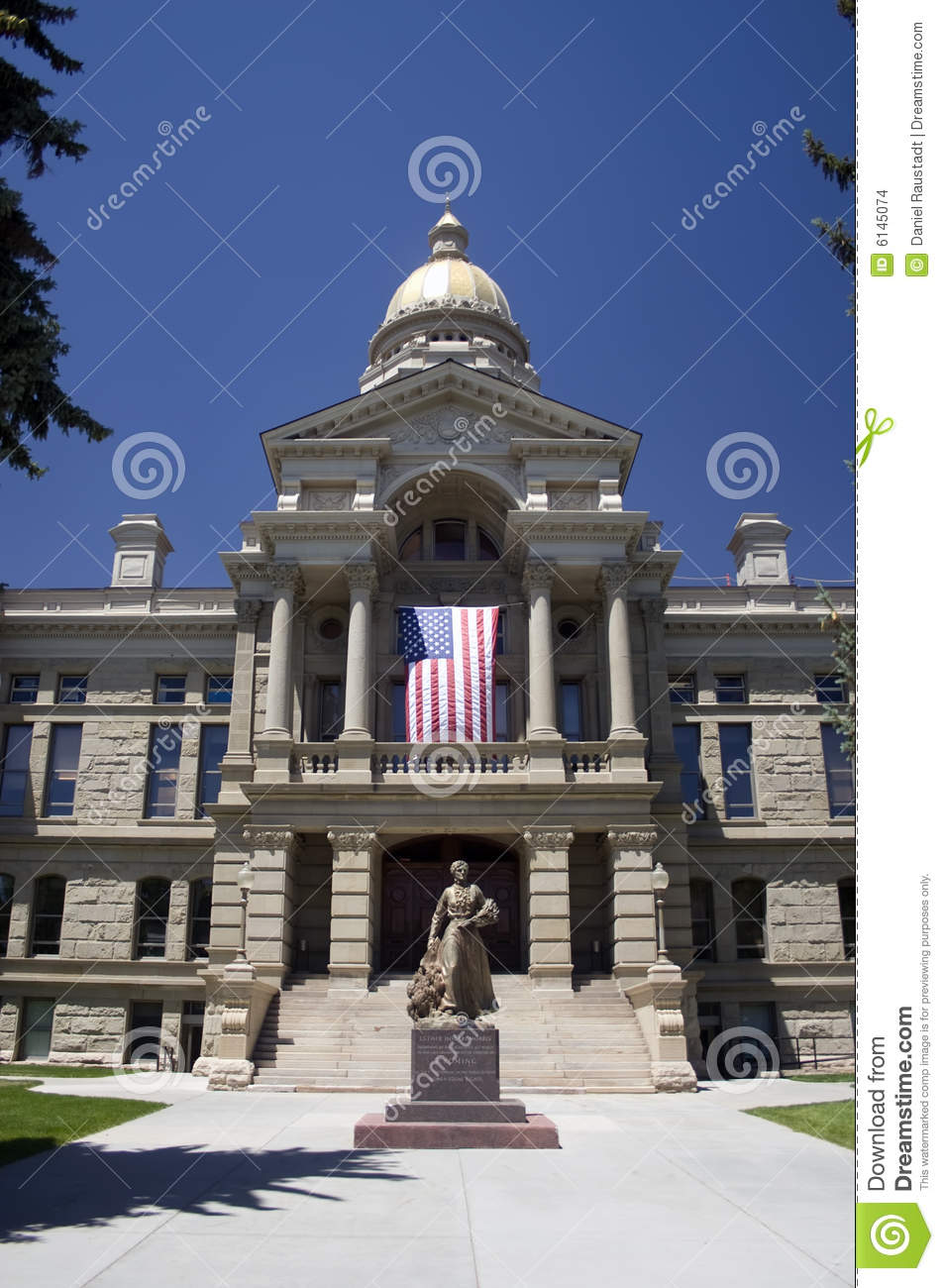 Wyoming State Capitol Building Stock Photo - Image of