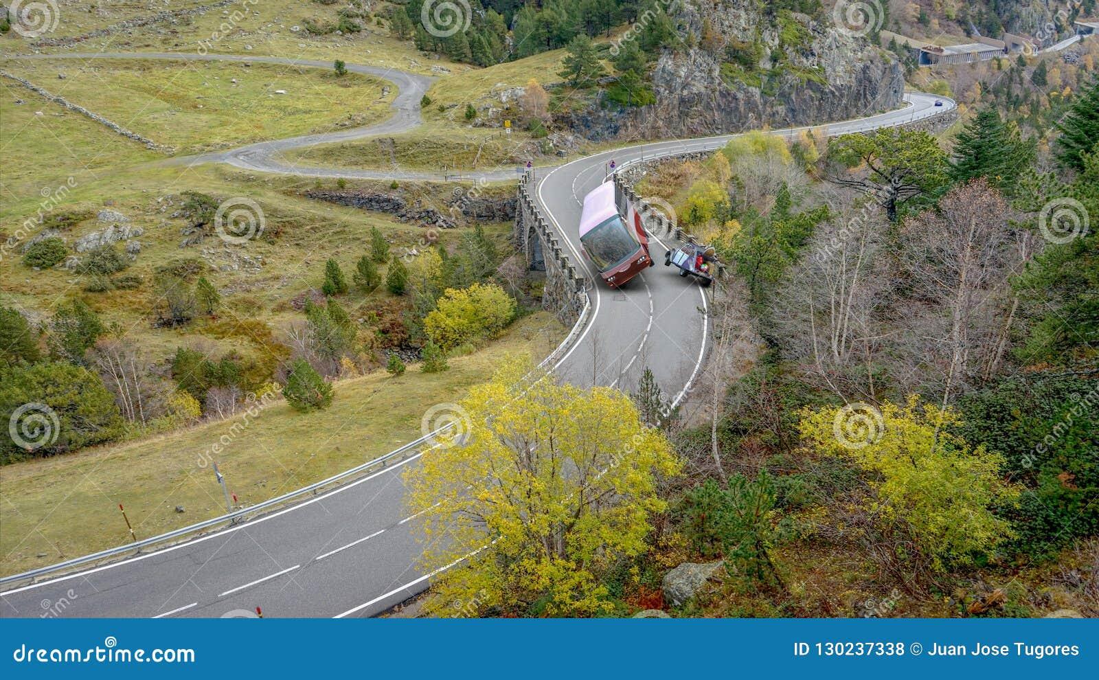 Wypadek między autobusem i samochodem