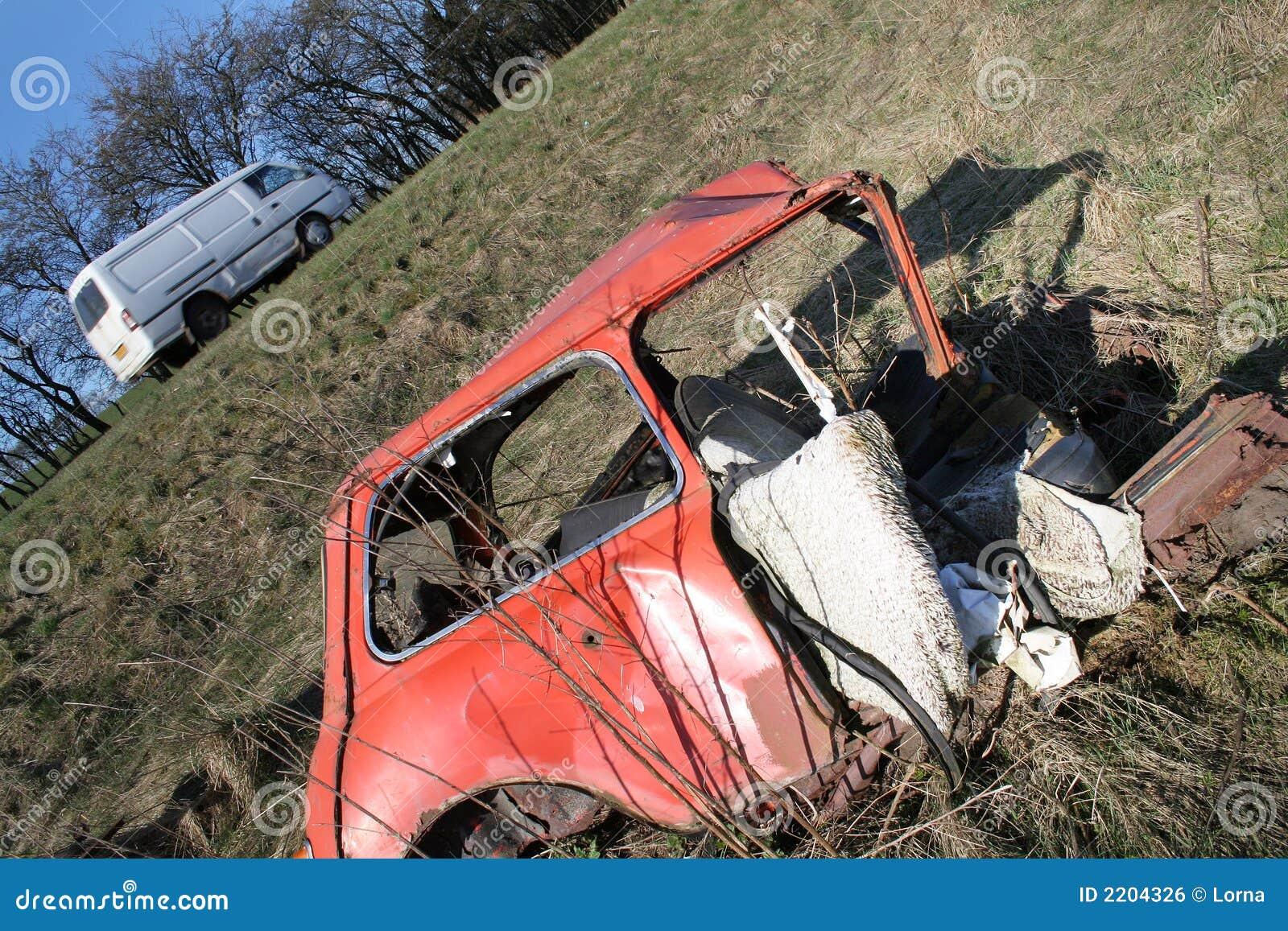 Wypadek Samochodowy Mini Zdjęcie Stock Obraz Złożonej Z Morris
