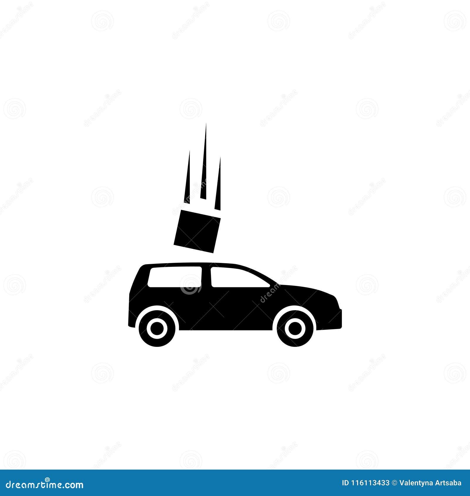 Wypadek Samochodowy Płaska Wektorowa ikona