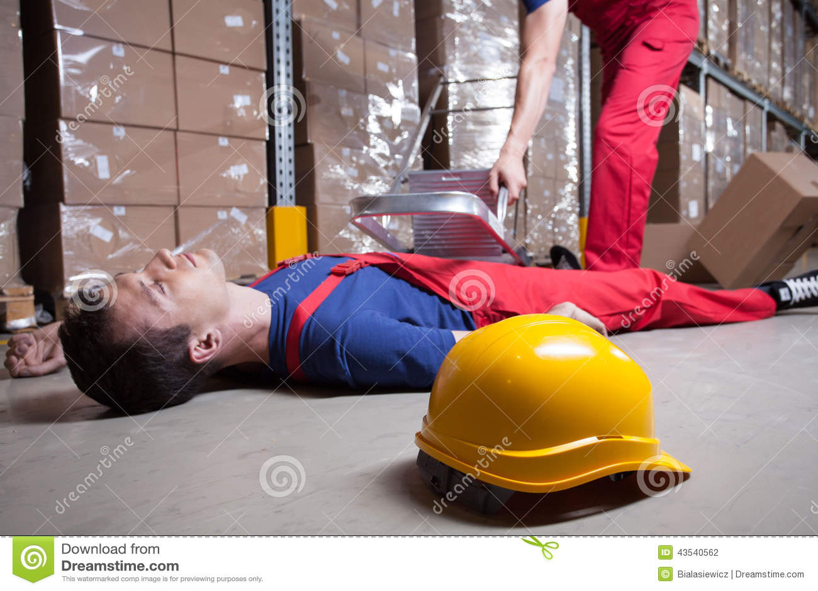 Wypadek w fabryce