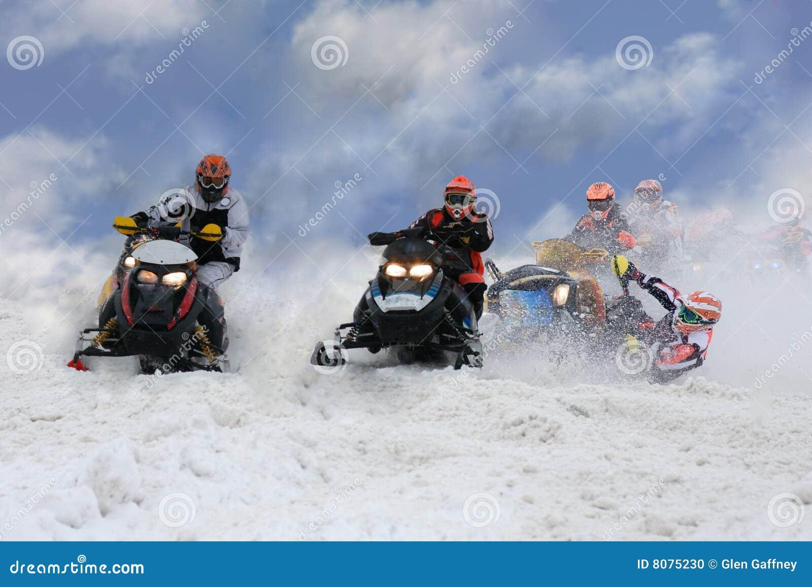 Wypadkowy snowmobile