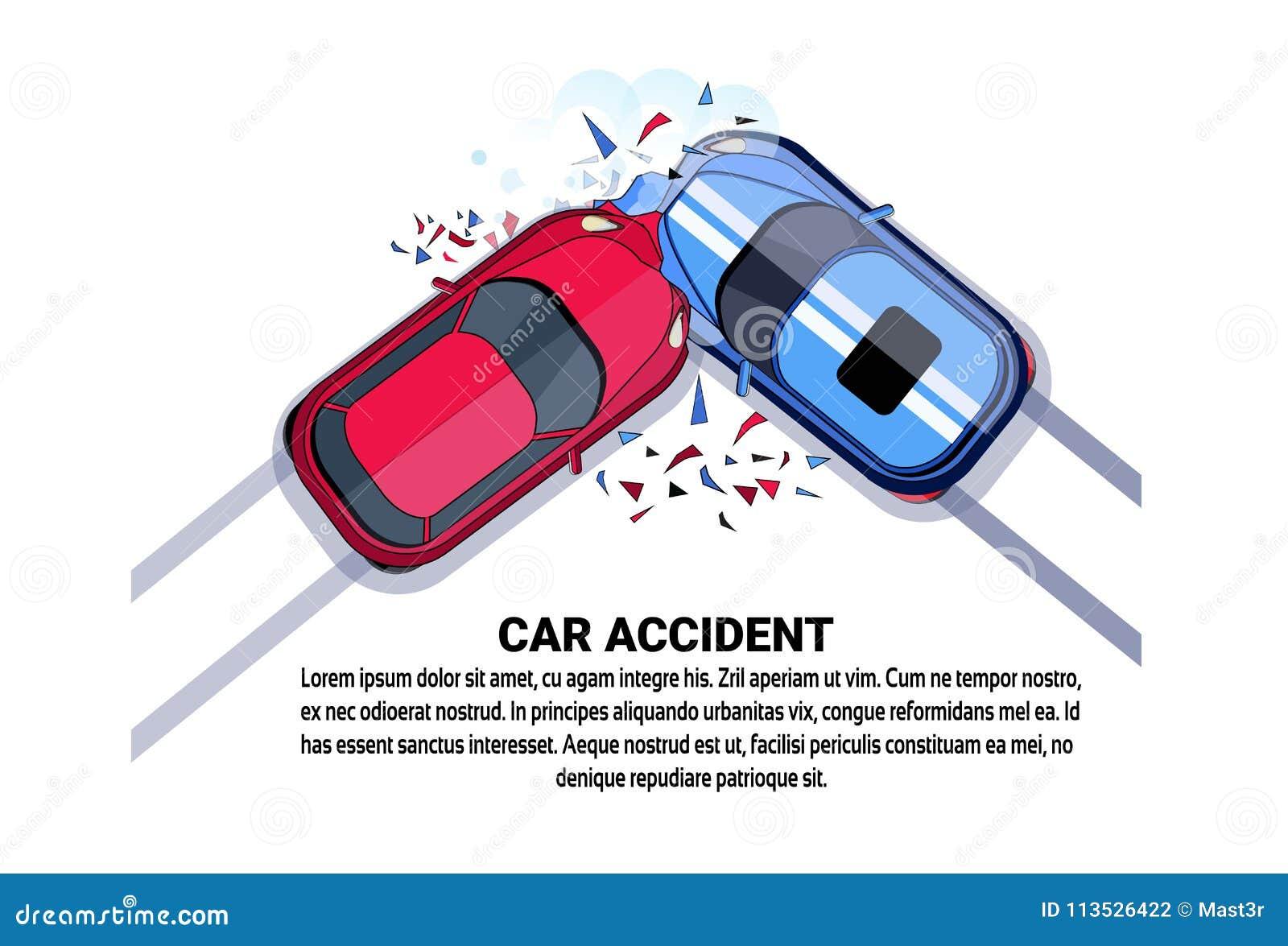 Wypadku Samochodowego Odgórnego widoku pojazdu karambolu ikona Nad Białym tłem Z kopii przestrzenią