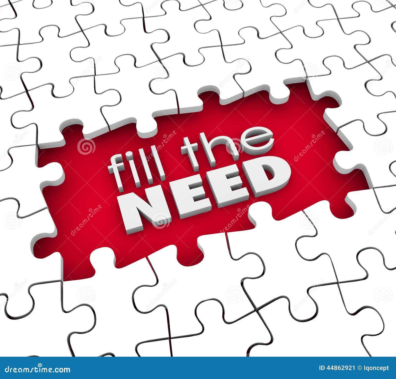 Wypełnia potrzeba klienta żądań produktu usługa marketing