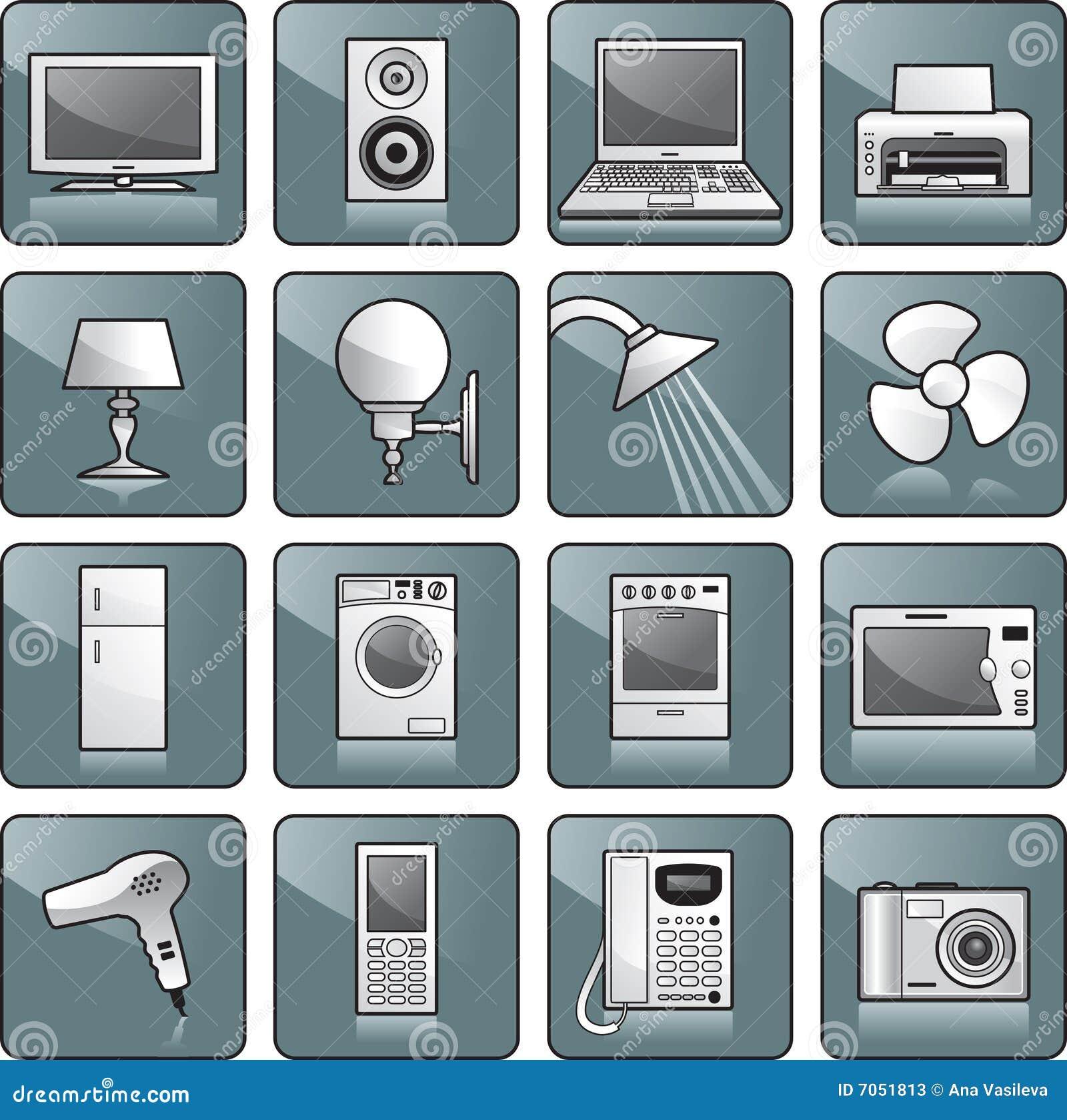 Wyposażenie ikony domowy set