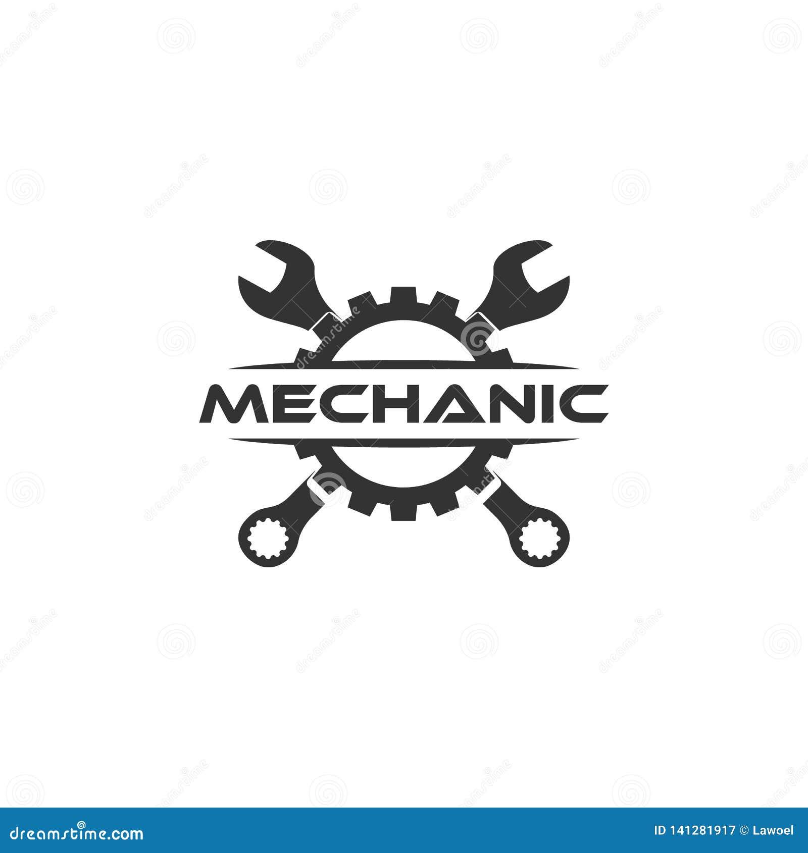 Wyrwanie przekładni logo Płaski loga projekt