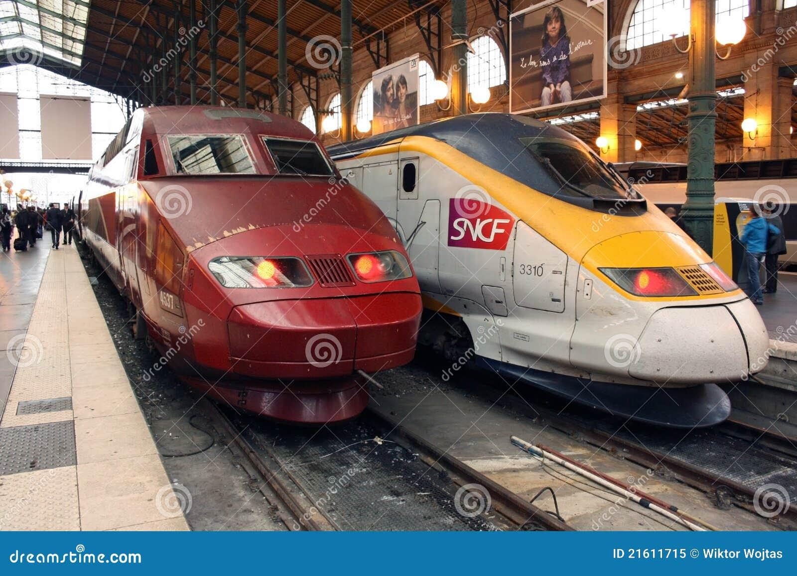 Wysocy Paris prędkości tgv thalys pociągi