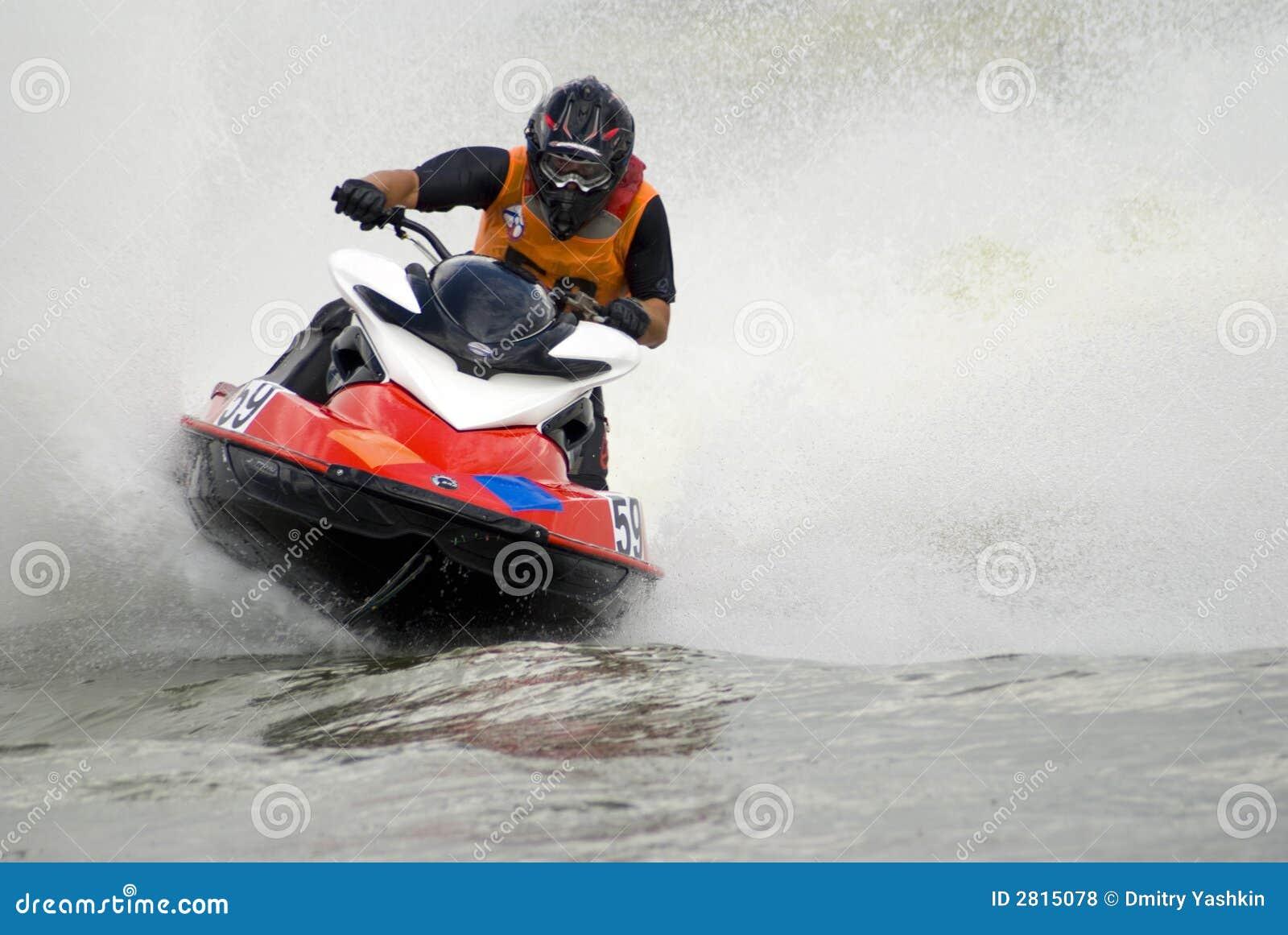 Wysoka prędkość jetski wody.