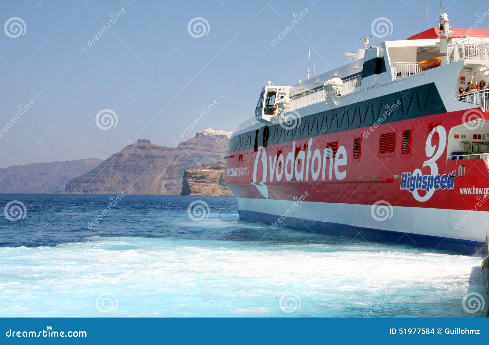 Wysoka prędkości łódź