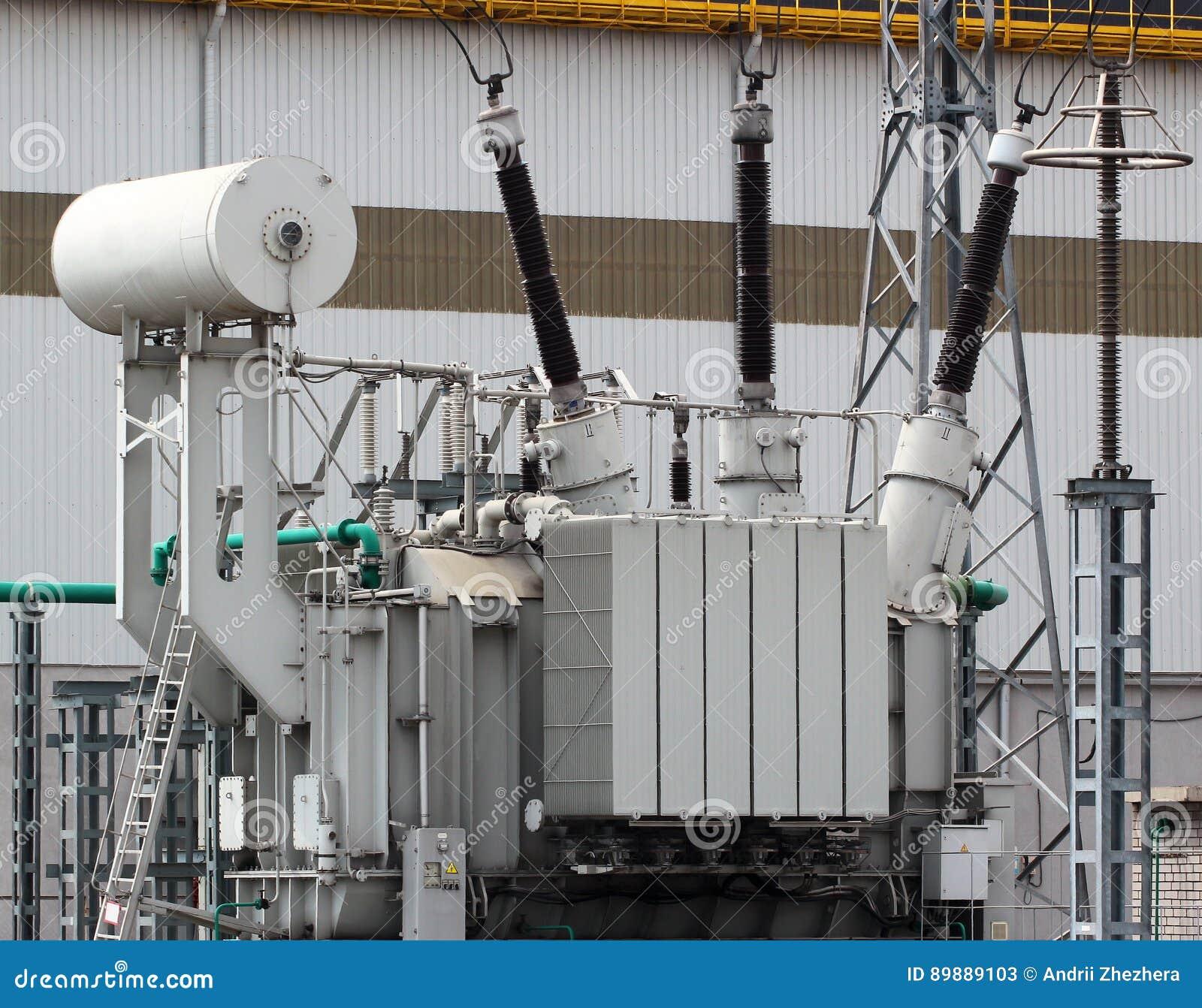 Wysoki woltaż władzy transformator na elektrycznej podstaci