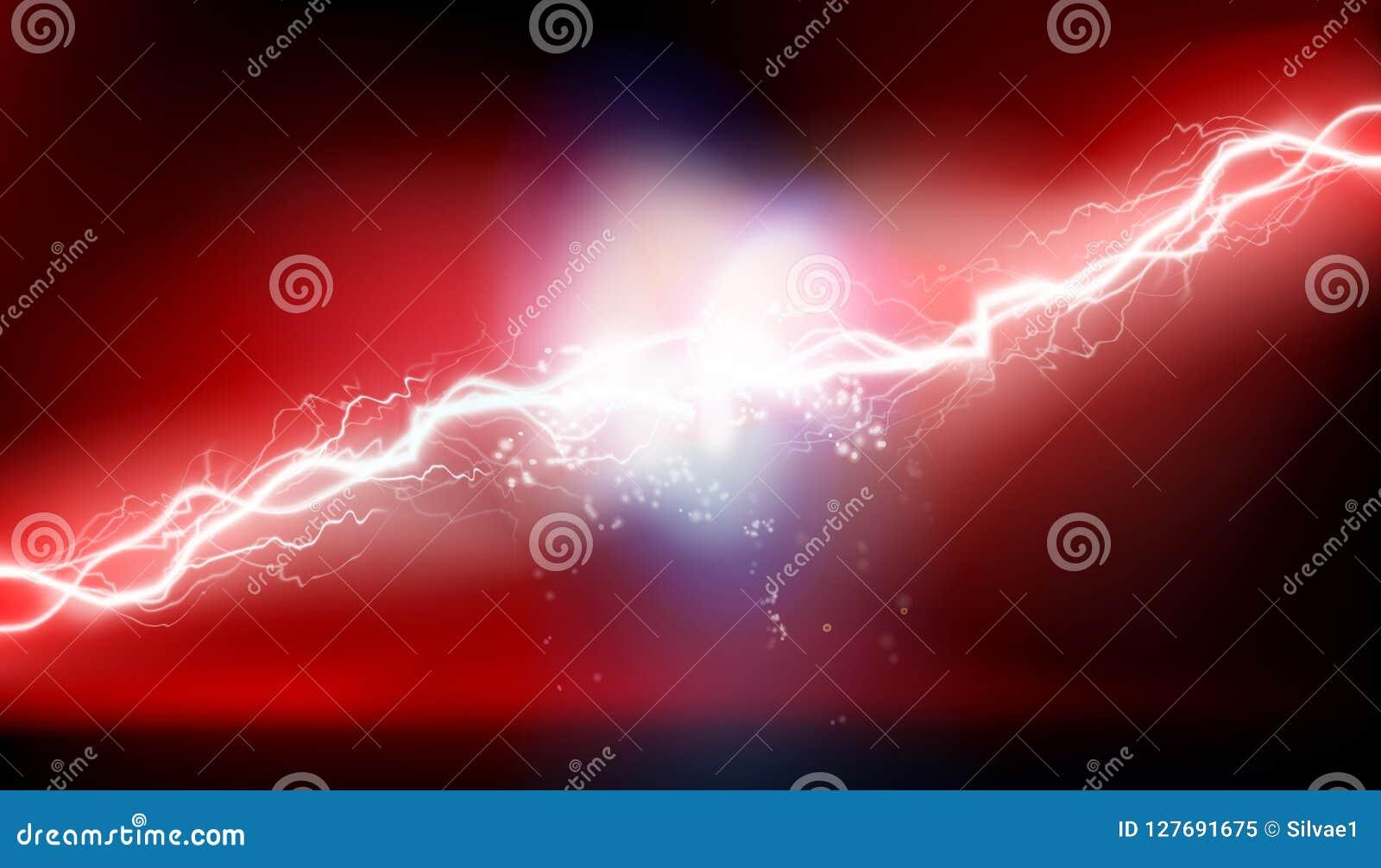 Wysokiego woltażu elektryczny rozładowanie również zwrócić corel ilustracji wektora