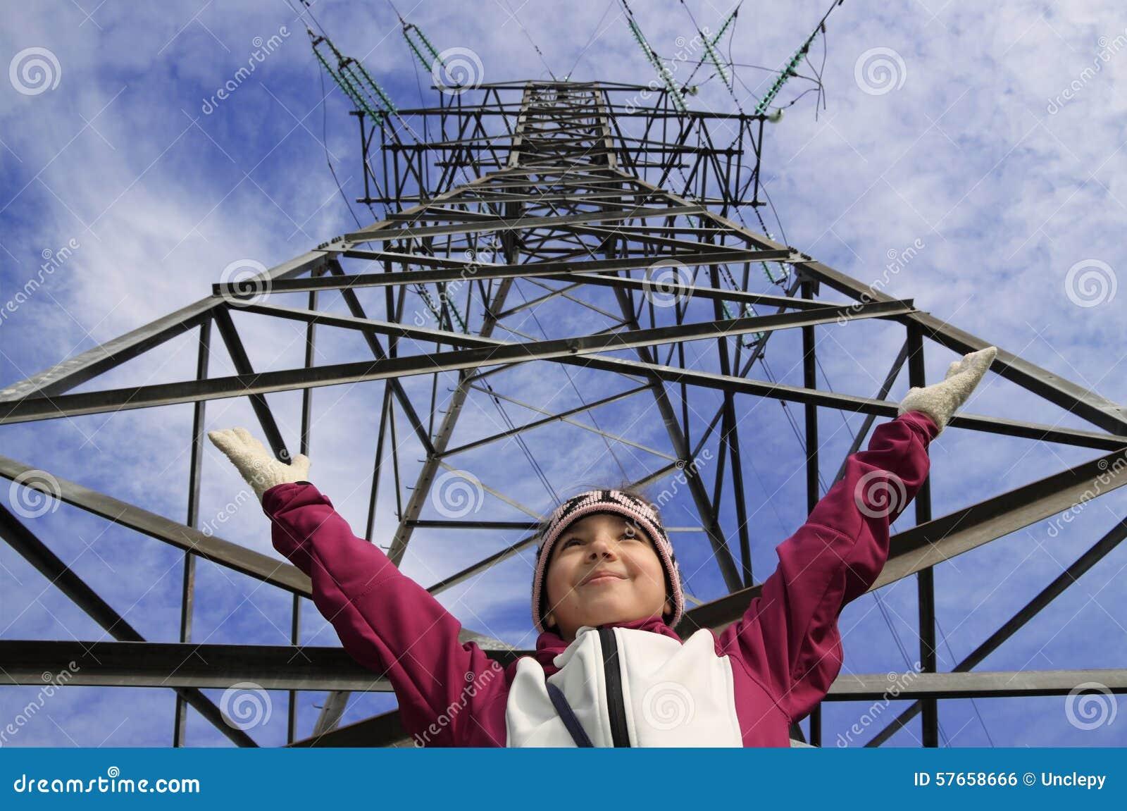 Wysokonapięciowa elektryczność przekazów linia
