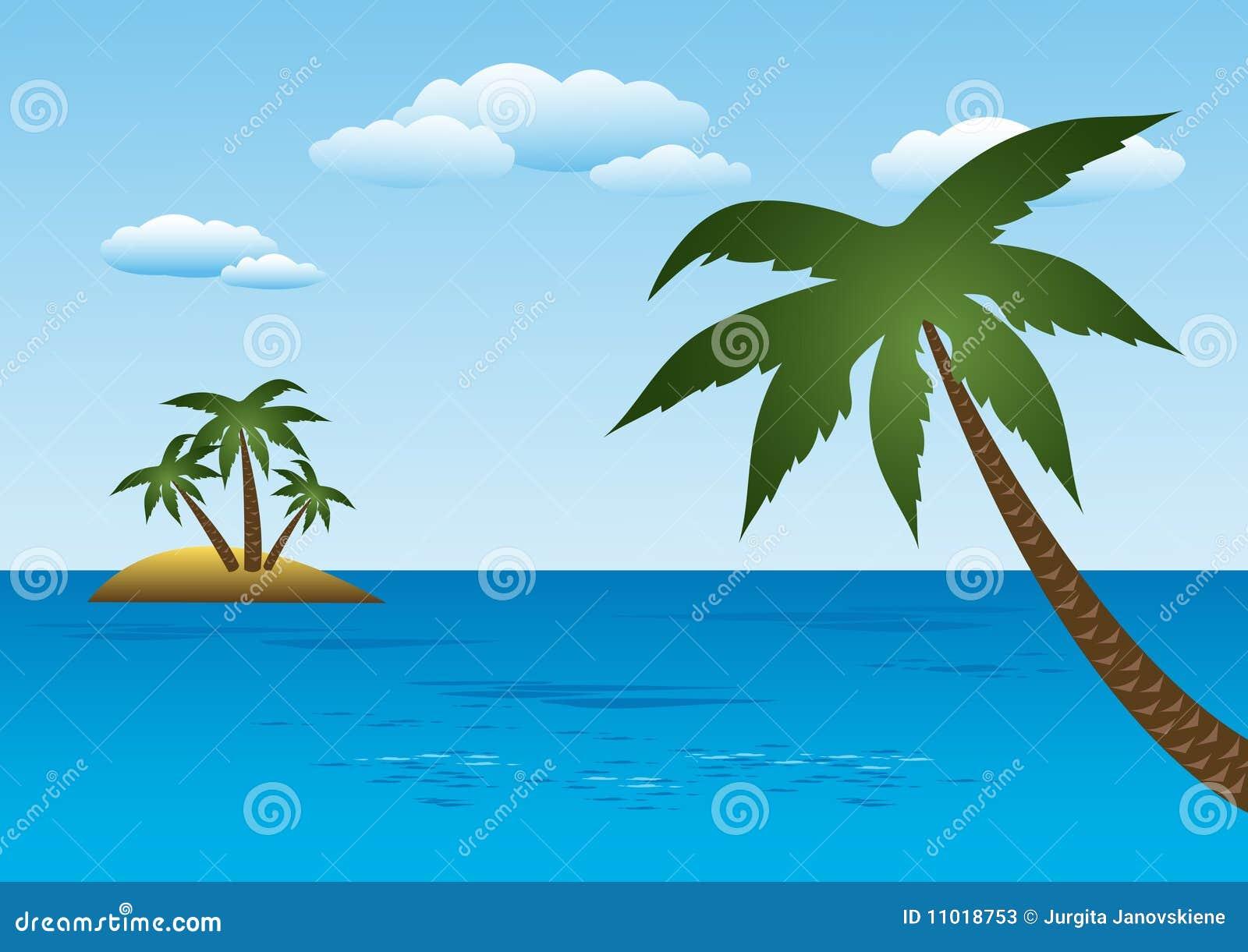 Wysp drzewka palmowe