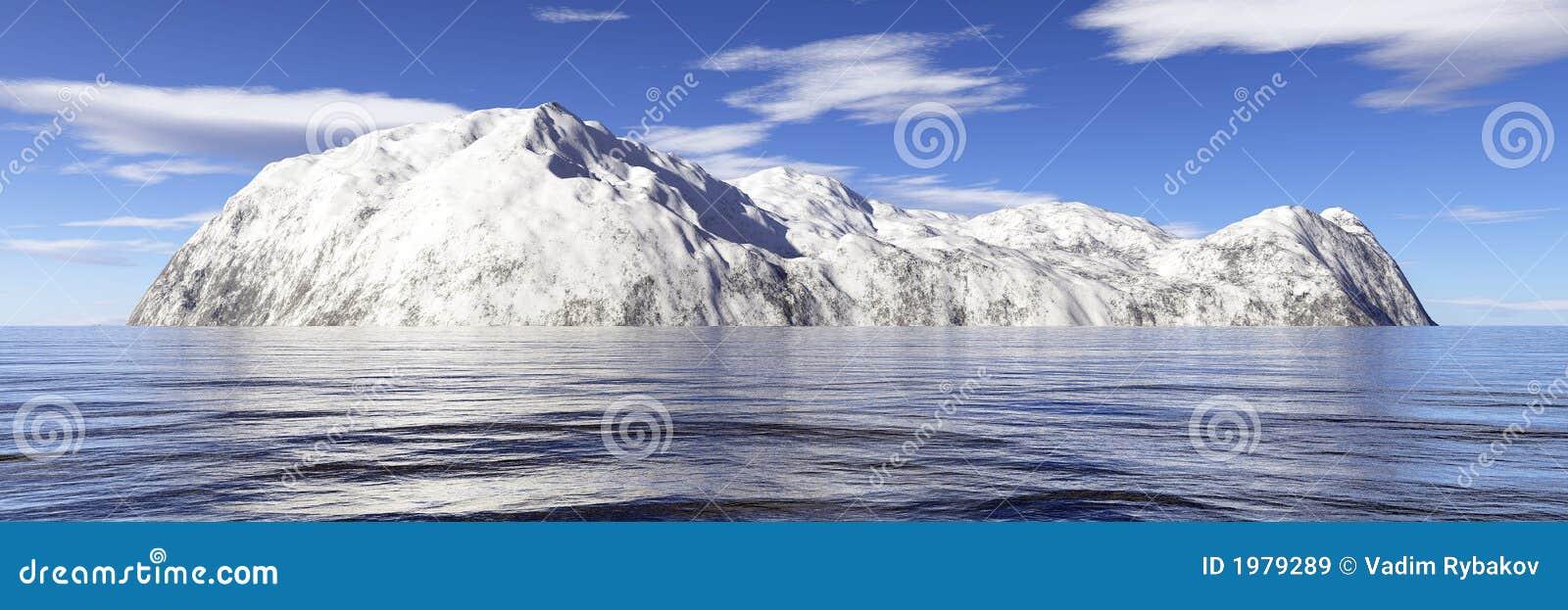 Wyspa śnieg