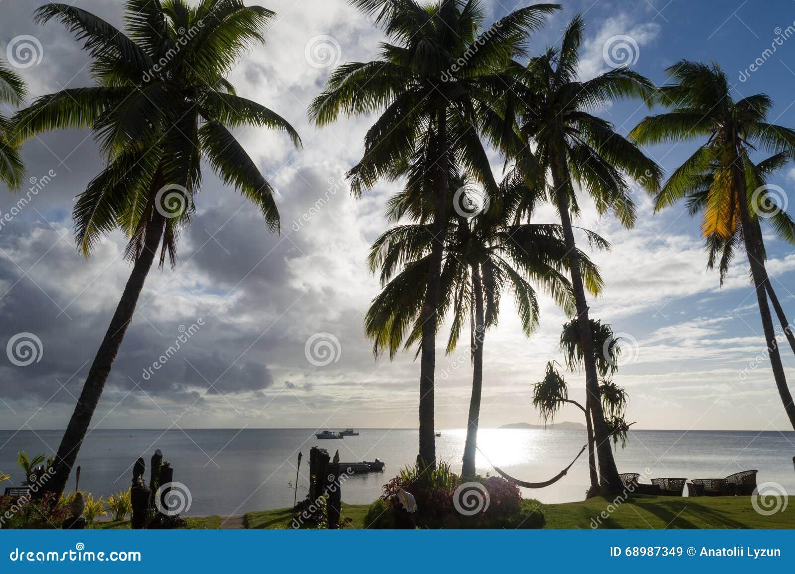 Wyspa tropikalny słońca drucik Beqa wyspa