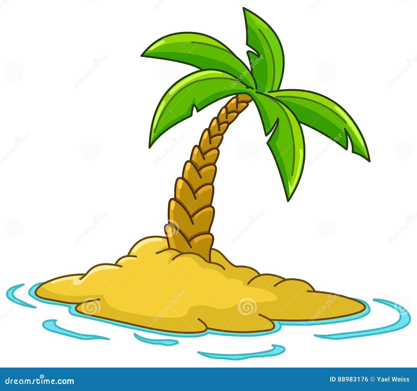 Wyspa z drzewkiem palmowym