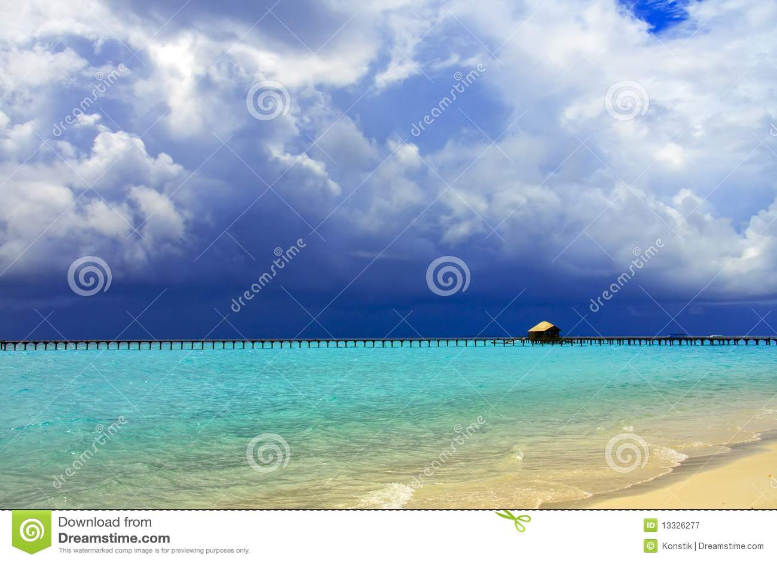 Wyspy Maldives ocean