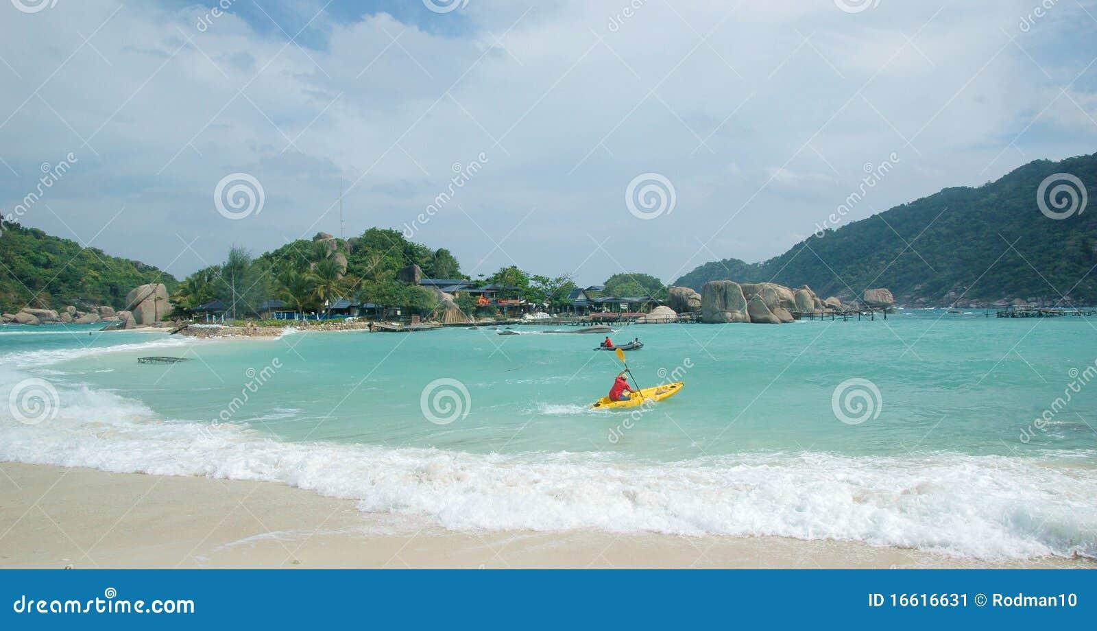 Wyspy plażowy koh Tao Thailand