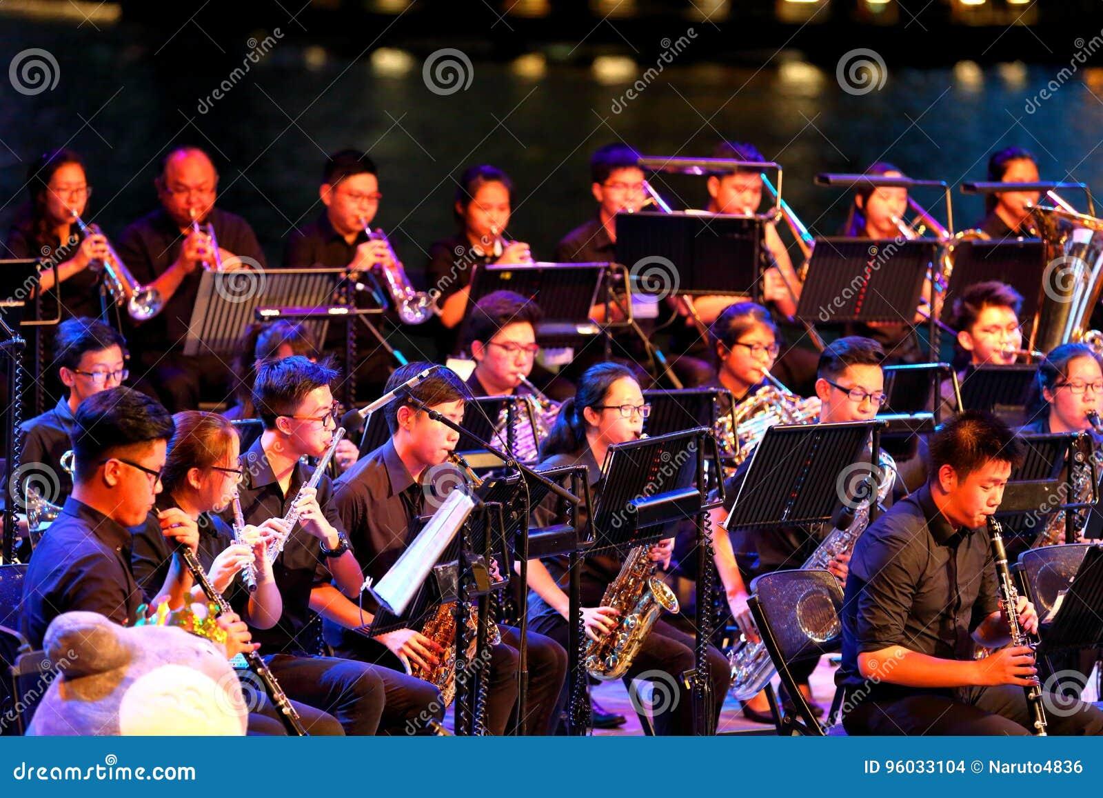 Występ przy esplanadą Singapur