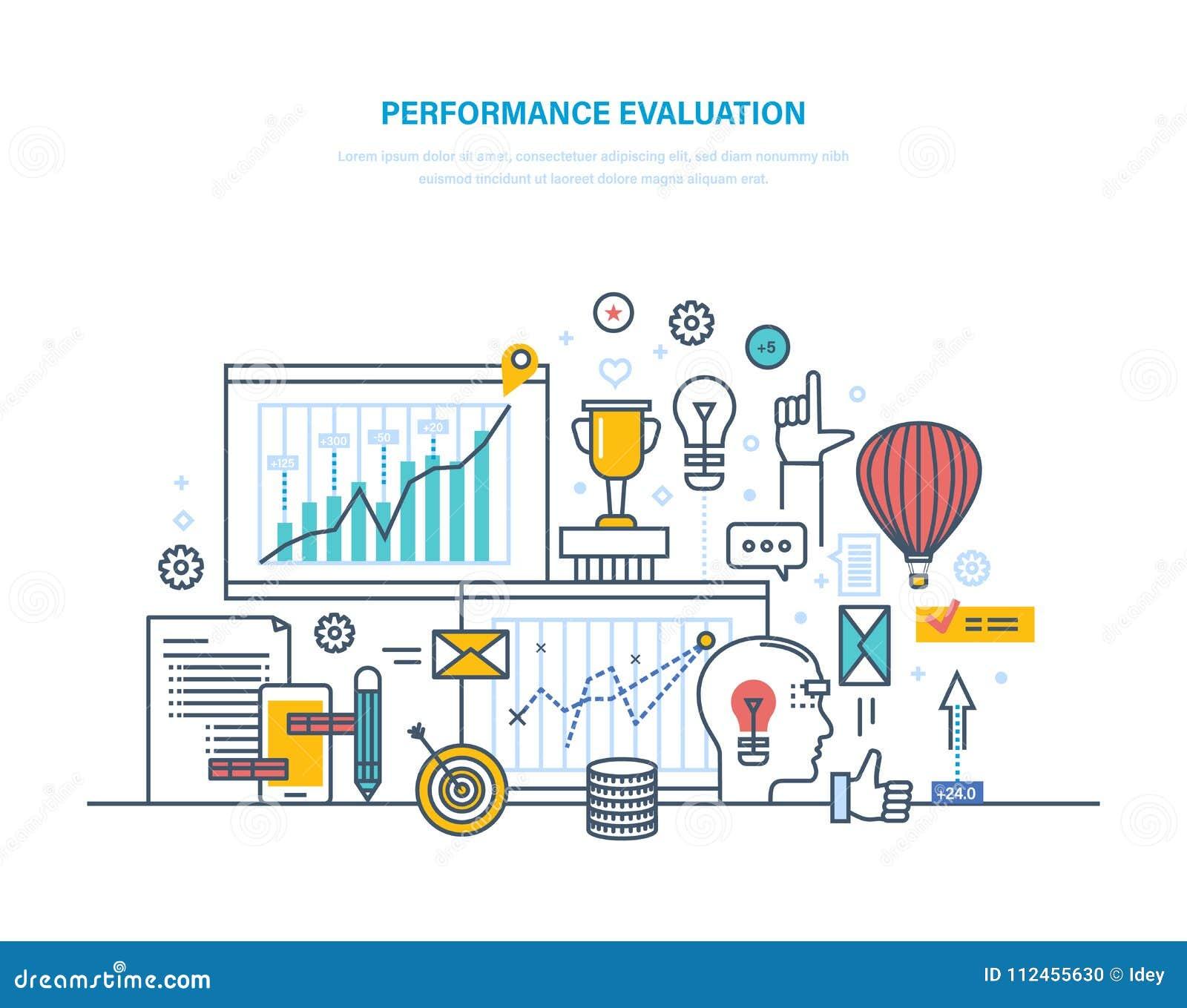 Występu cenienia działanie, kontrola jakości, występ produktywny, analiza rezultaty
