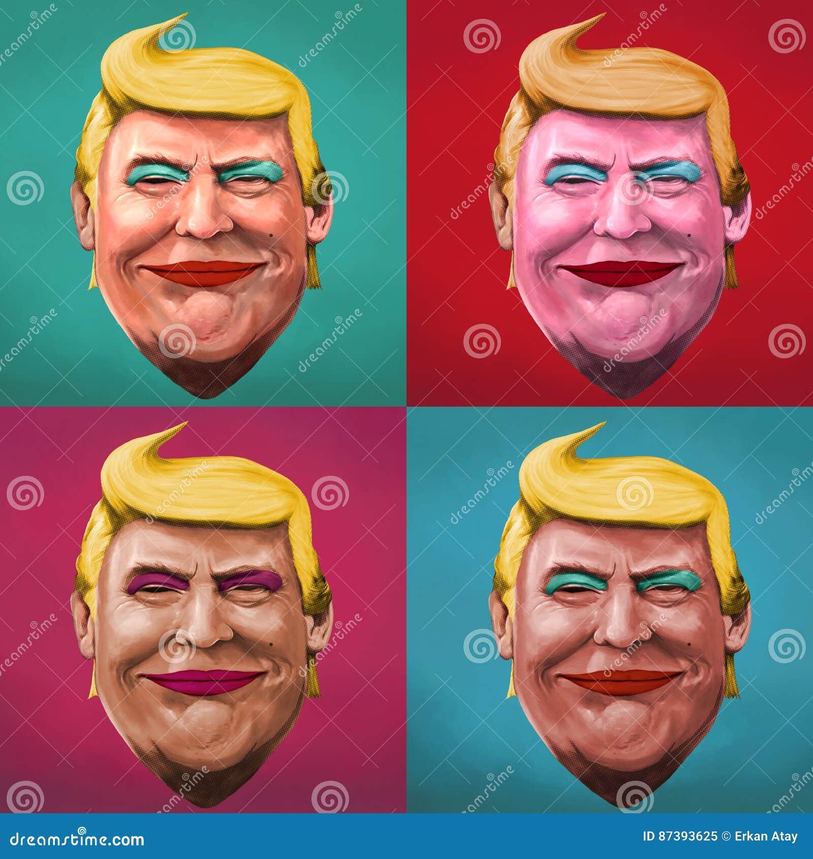 Wystrzał sztuki Donald atutu ilustracja