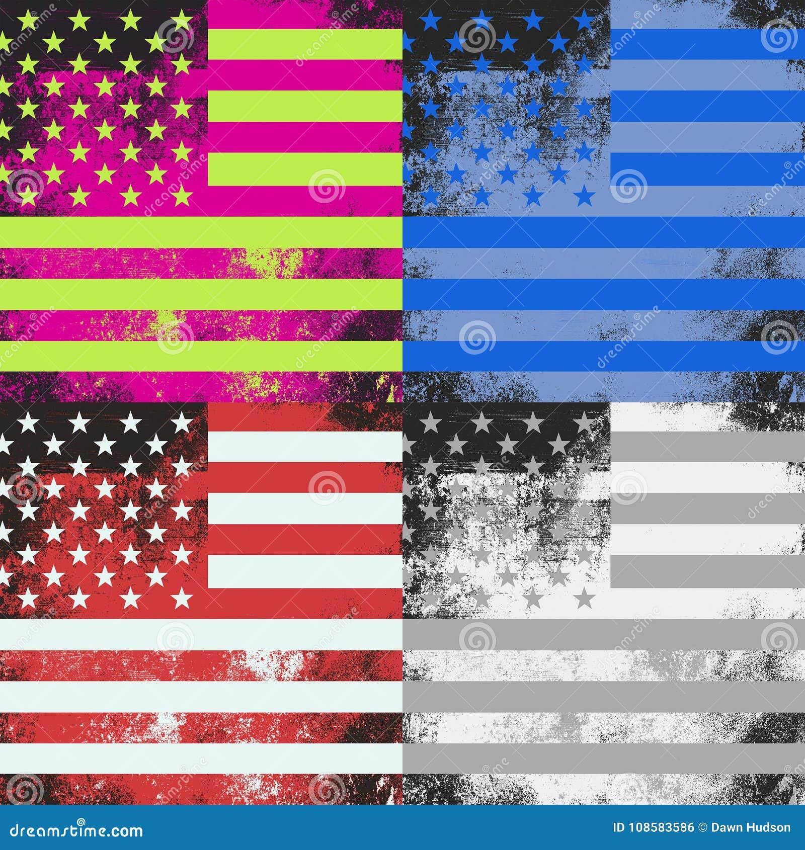 Wystrzał sztuki flaga amerykańskiej projekt