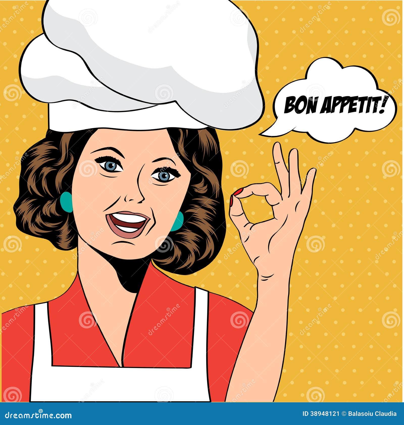 Wystrzał sztuki kobiety kucharz
