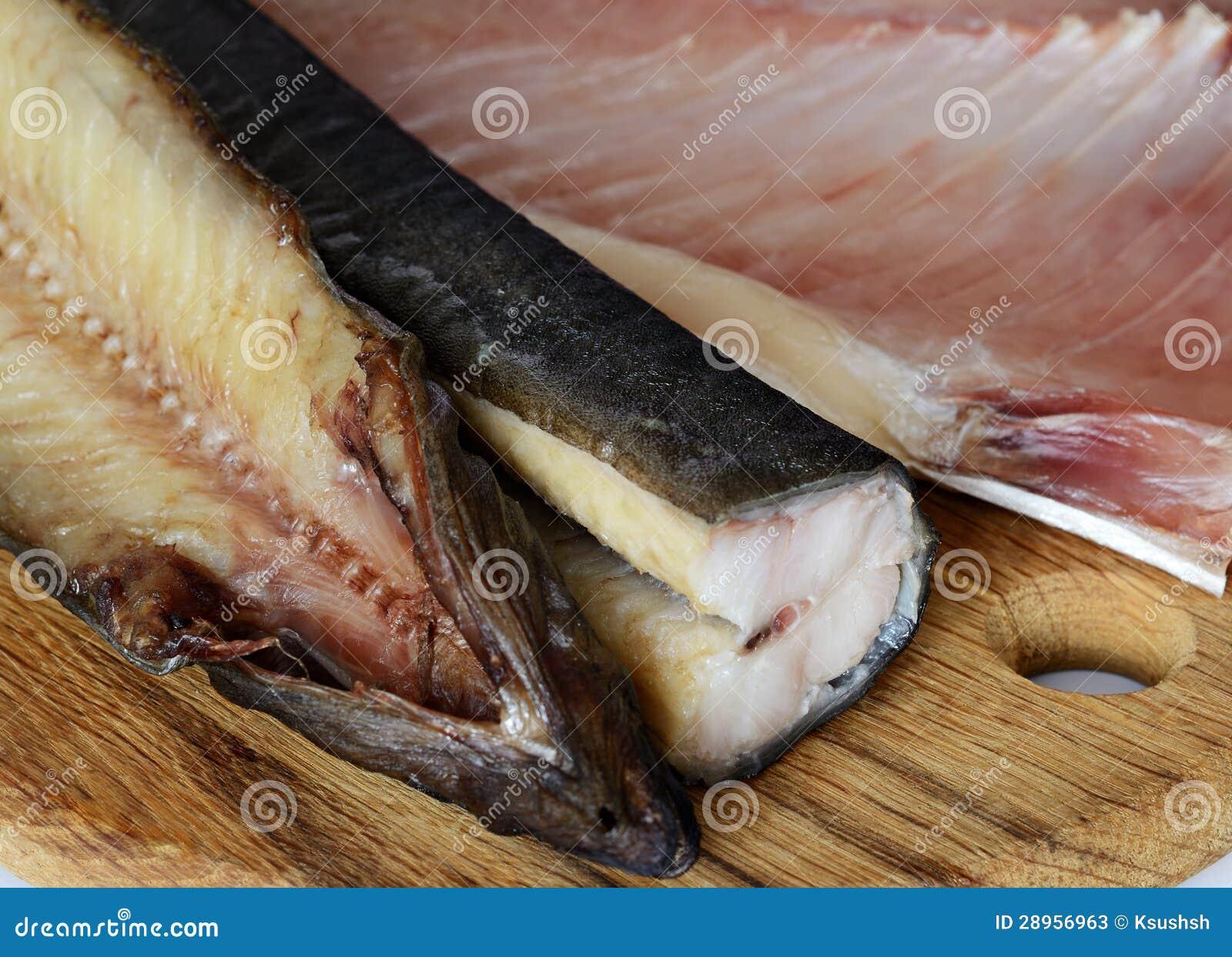 Wysuszona solona ryba