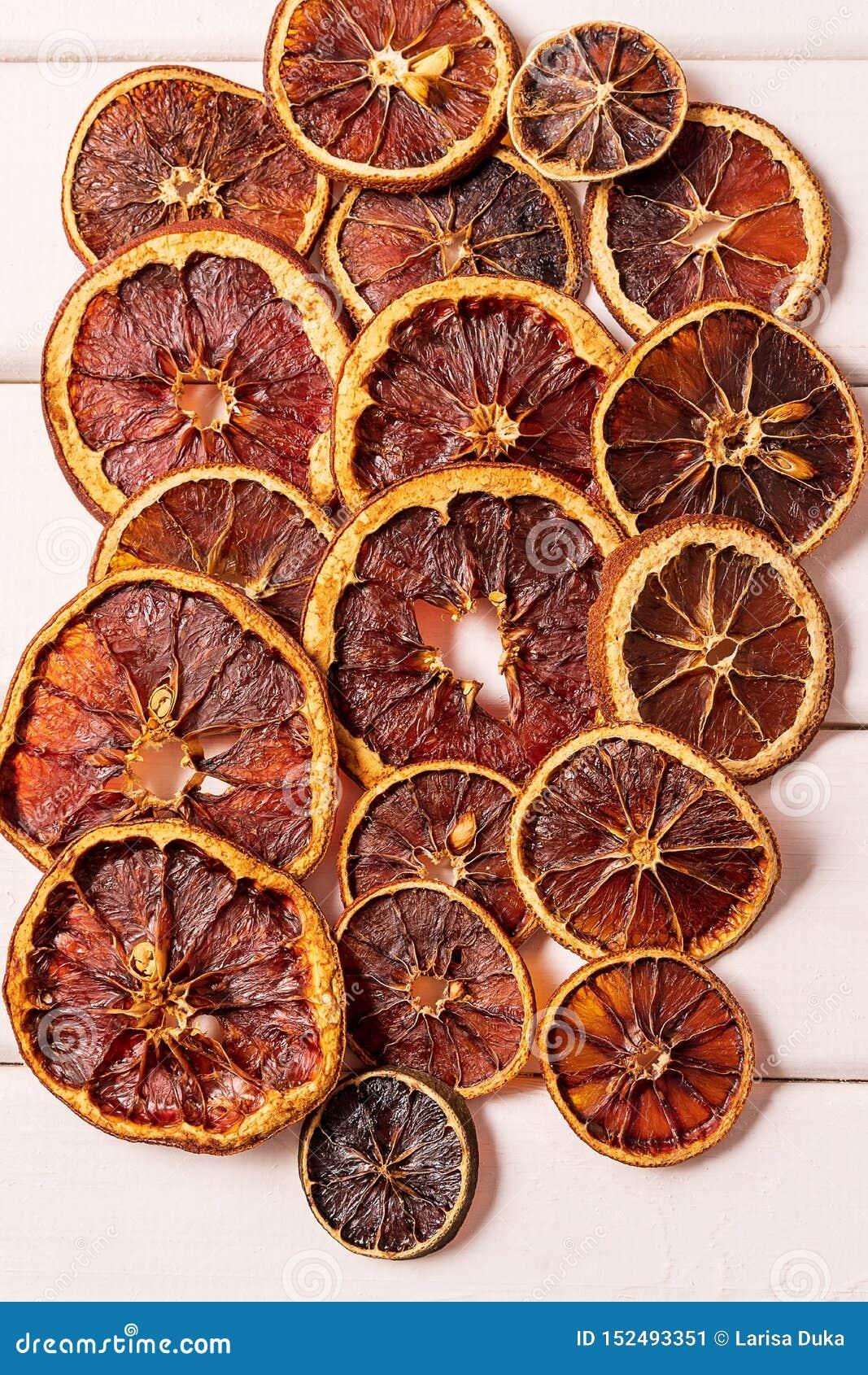 Wysuszony Piec Odwodniony candied domowej roboty pomarańczowy cytrus owoc układów scalonych wzór