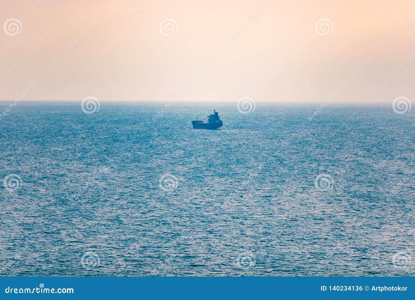 Wysyłki pojęcie Pojedynczy tankowa odtransportowania towary w morzu