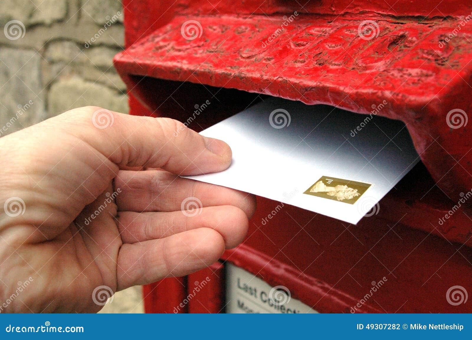 Wysyłać list w UK