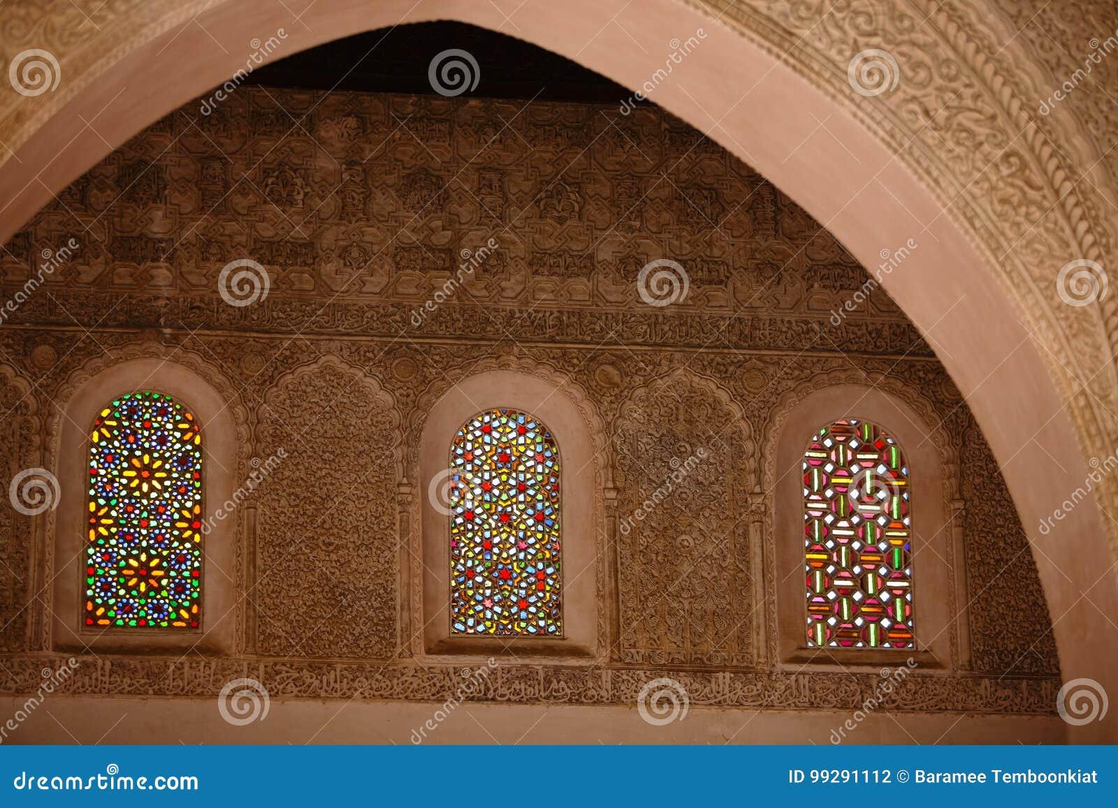 Wyszczególnia dekoracyjnego Meczetowa Stara ściana dekorująca z pięknym St
