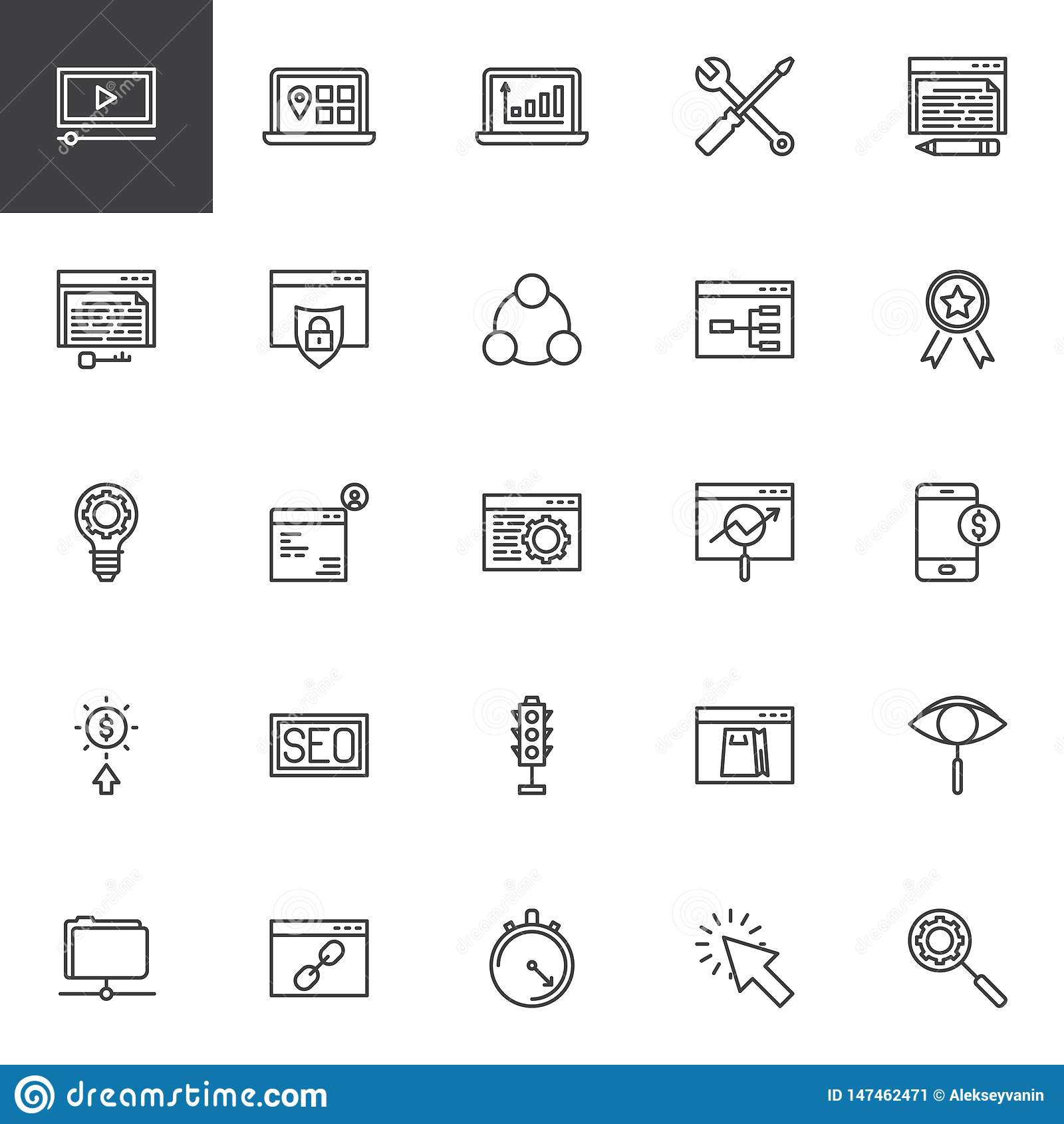 Wyszukiwarka optymalizacja linii ikony ustawia?
