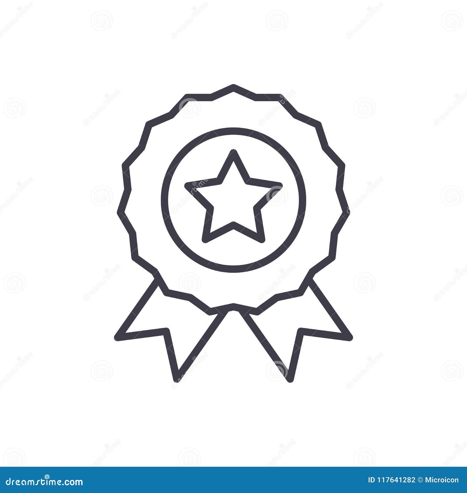 Wyznaczający nagrody czerni ikony pojęcie Wyznaczająca nagroda płaski wektorowy symbol, znak, ilustracja