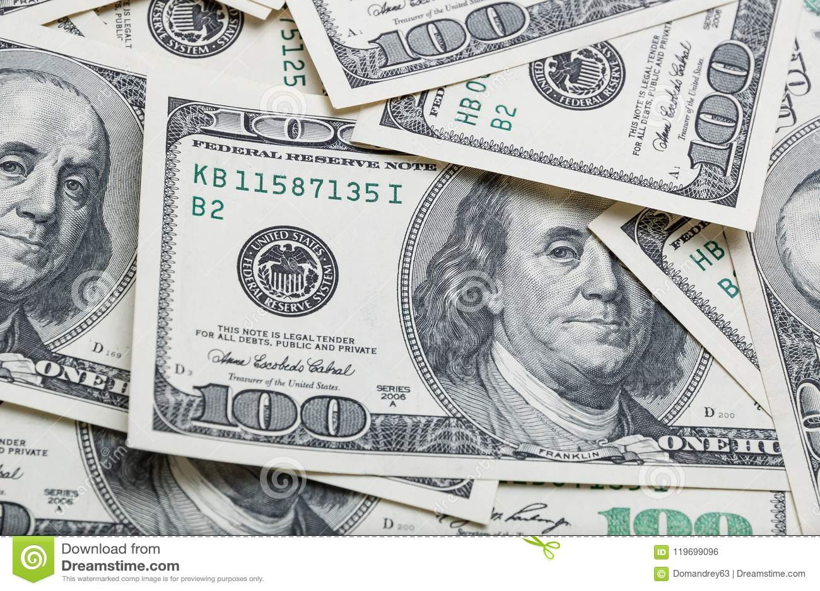 Wyznania sto dolarów zakończenia na całym wizerunku