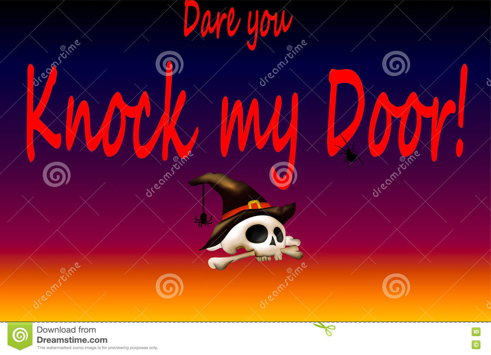 Wyzwanie ty pukasz mój drzwi Halloween