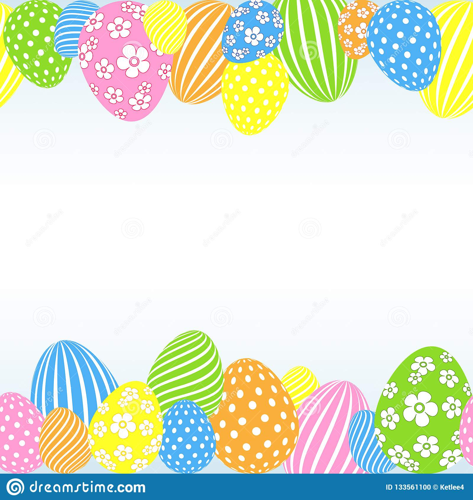 Wzór barwioni Wielkanocni jajka na lekkiego tła Dekoracyjnym świątecznym pustym szablonie dla projekta karciany sztandaru plakat
