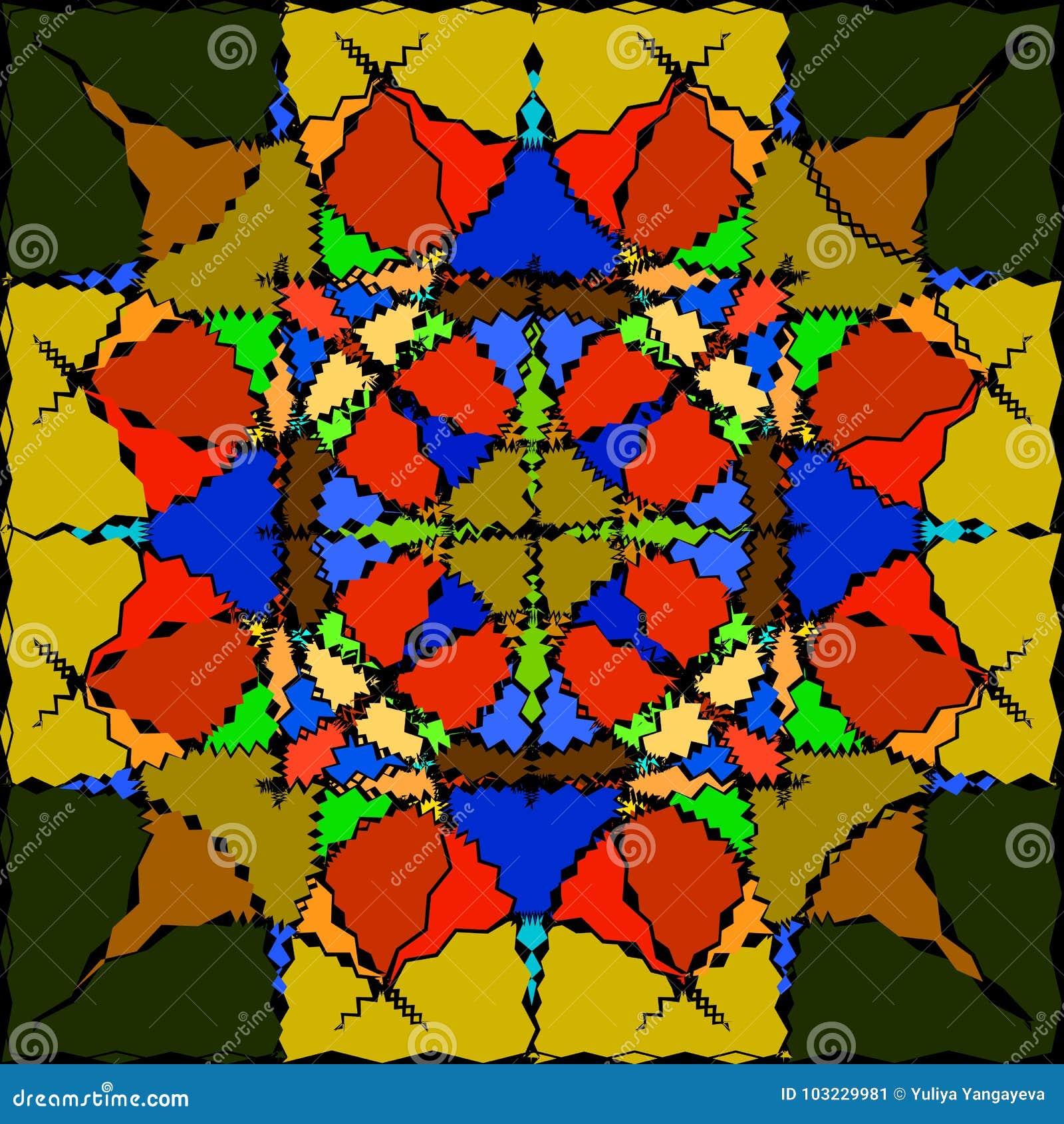 Wzór dla szkła w kolorze