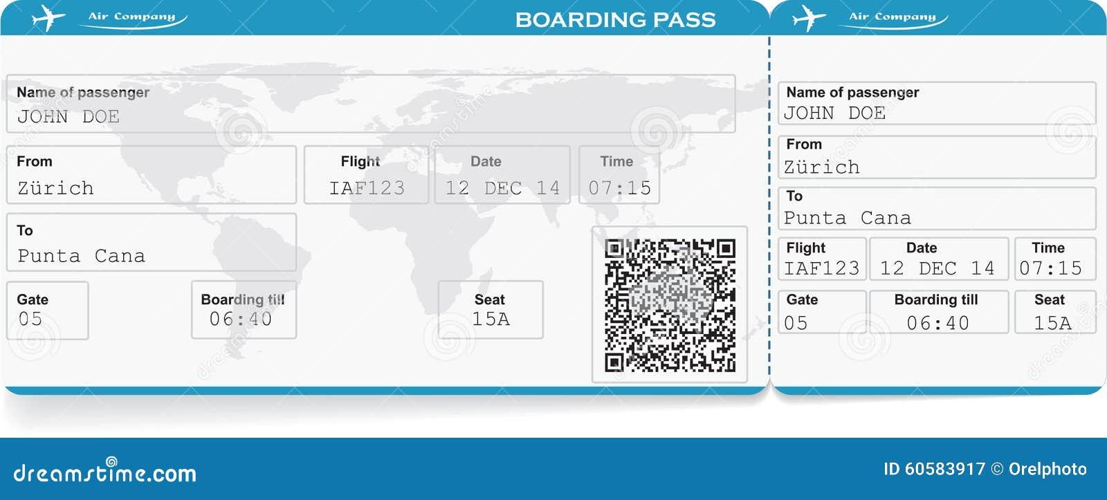 Wzór Linia Lotnicza Abordażu Przepustki Bilet Ilustracji