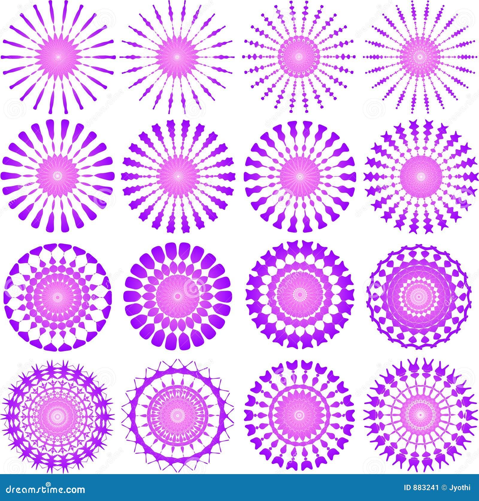 Wzór różowy