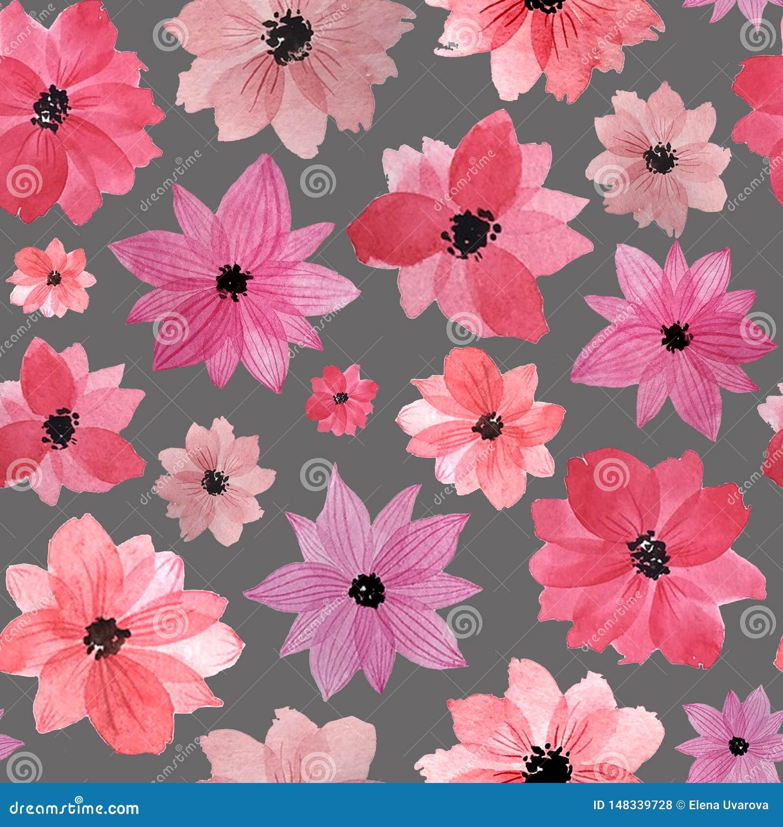 Wz?r pisze kwiaty ja obrazu obrazka akwarela