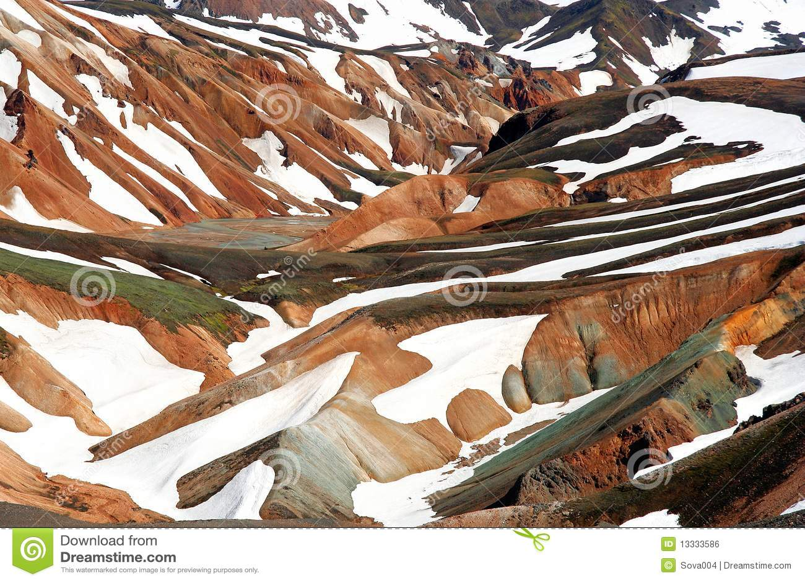 Wzgórza landmannalaugar