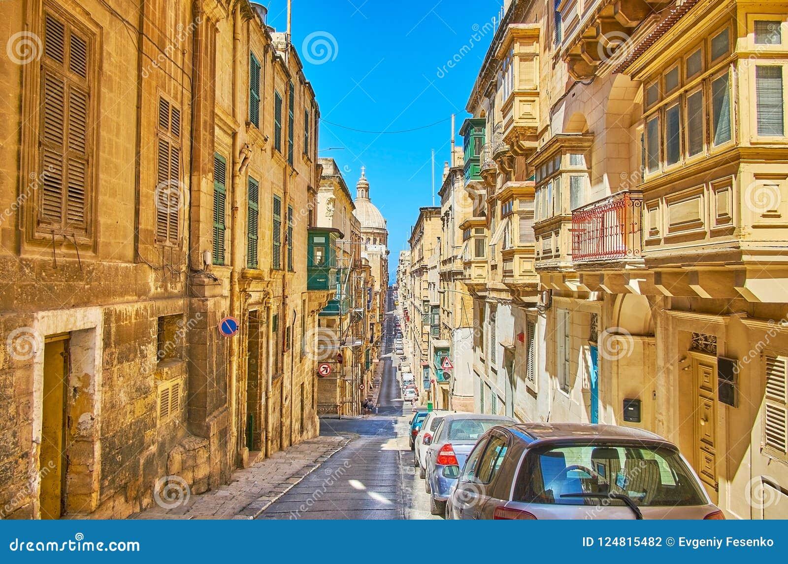 Wzgórza stary Valletta, Malta