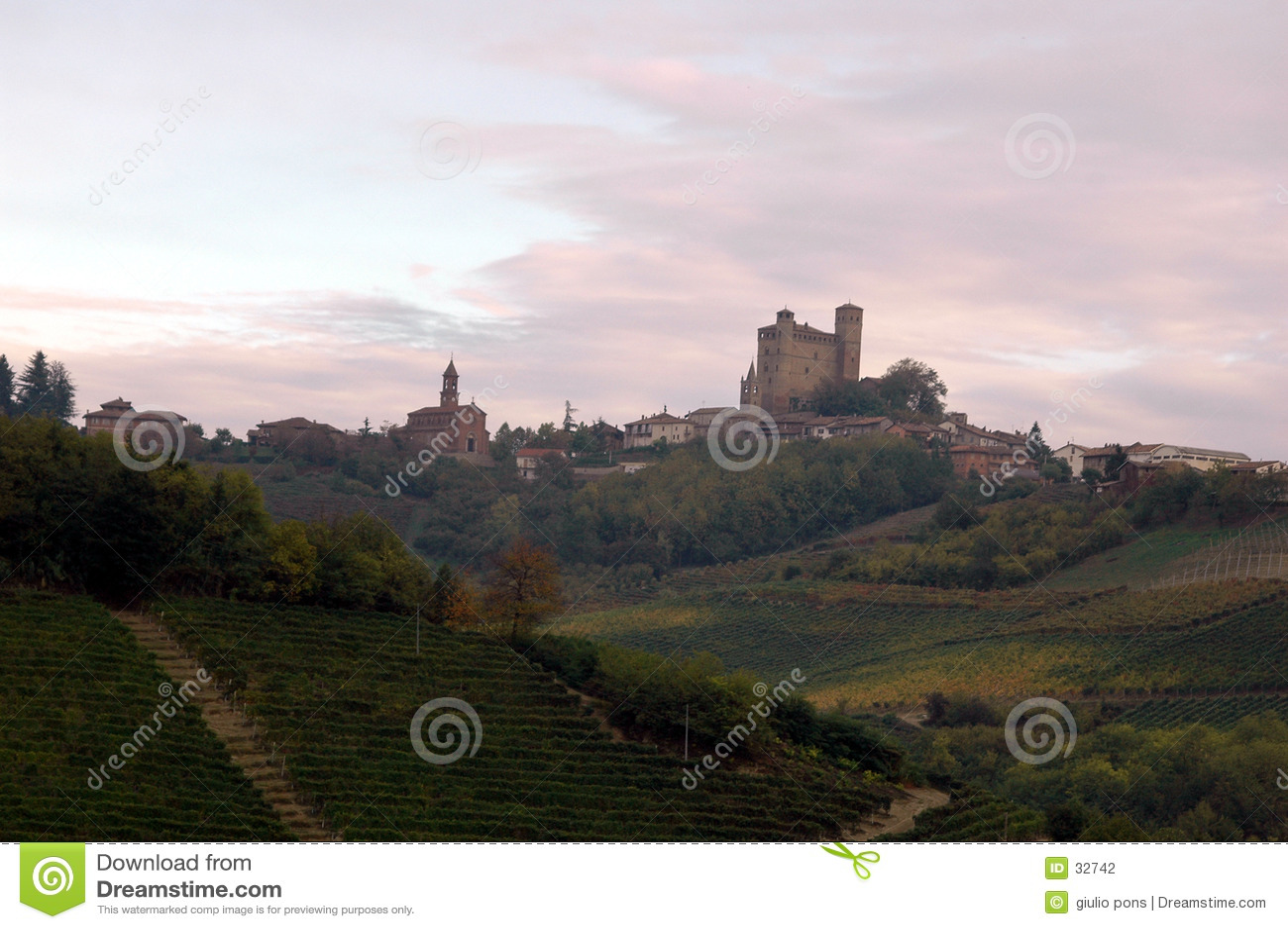Wzgórza włoskich wsi