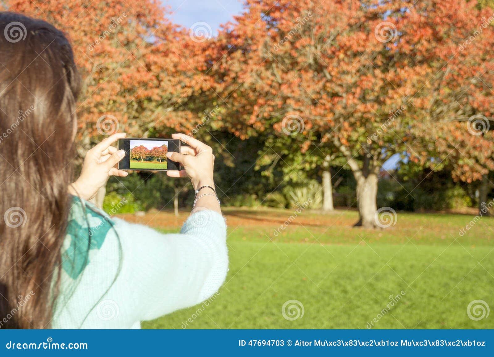 Wziąć zdjęcie kobiety