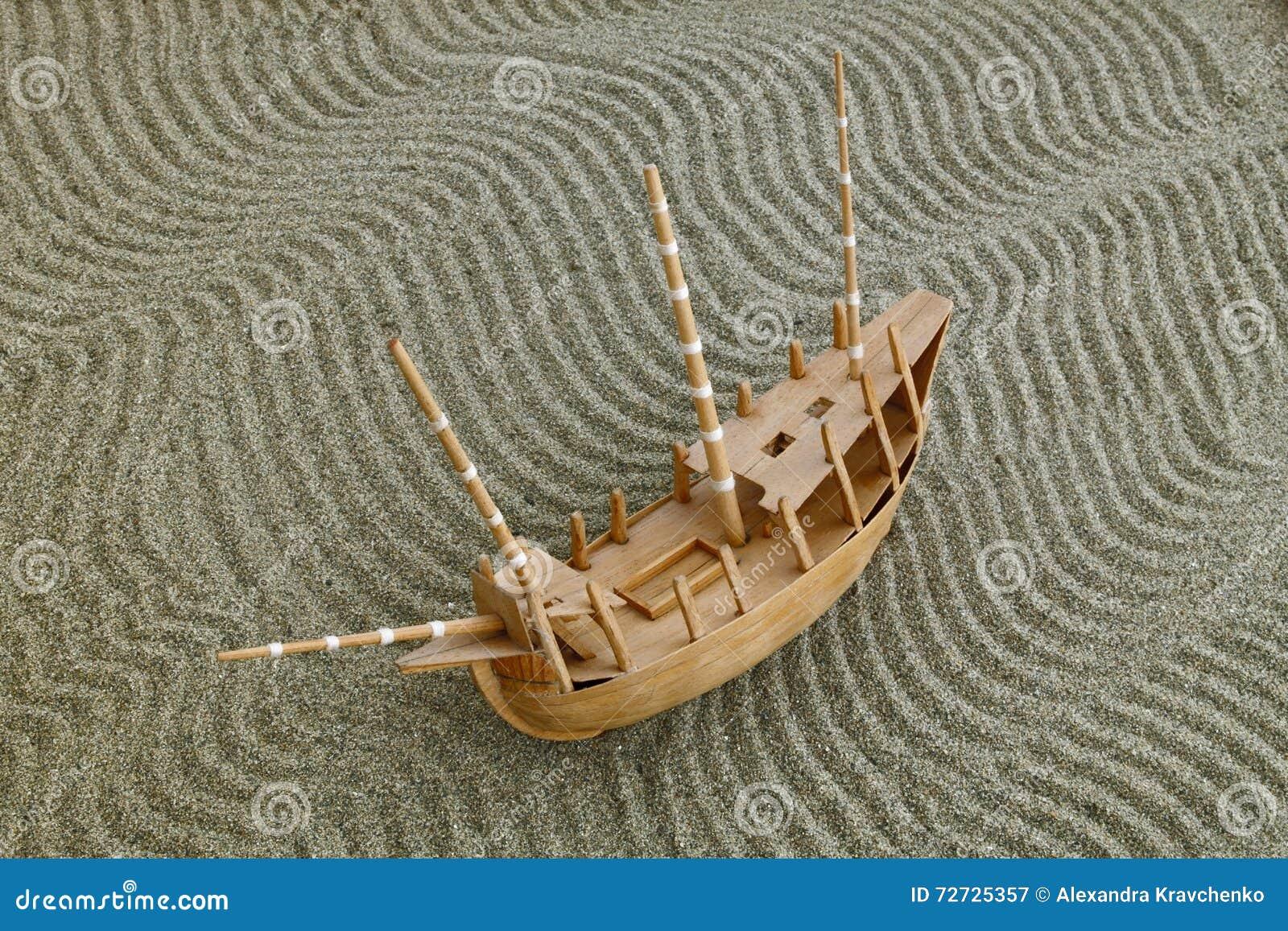 Wzorcowy statek na piasku