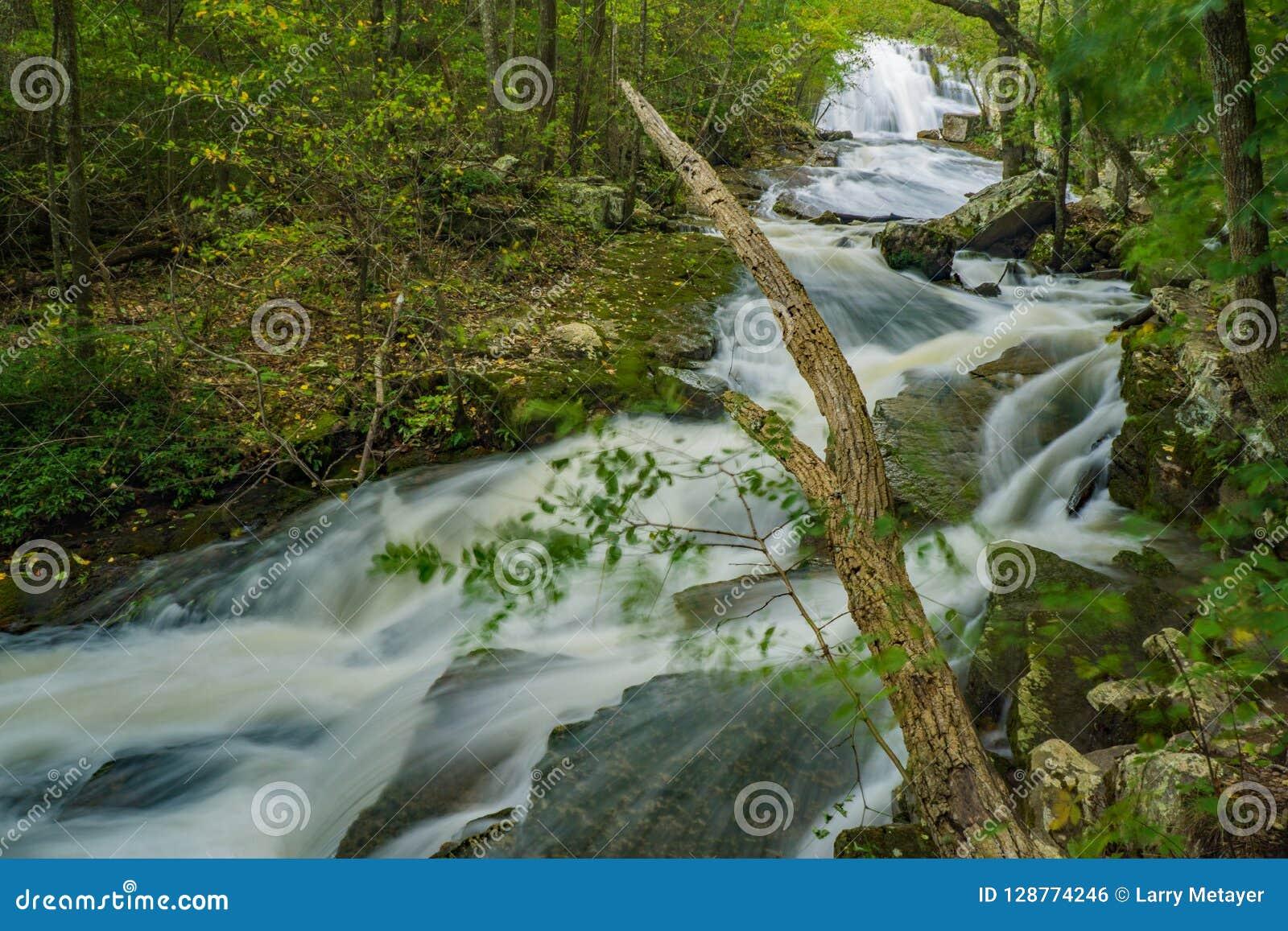 Wzrost woda przy huczenie bieg siklawą