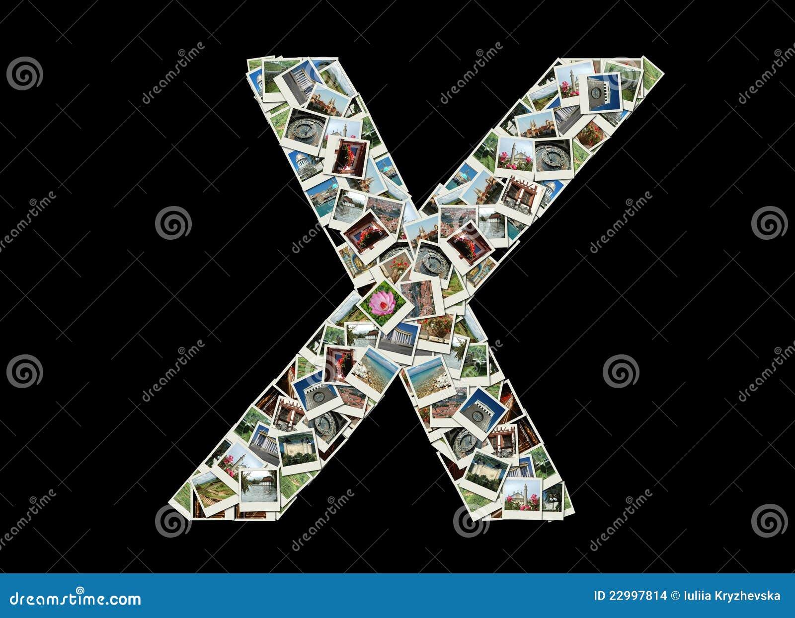 X письмо - коллаж фото перемещения