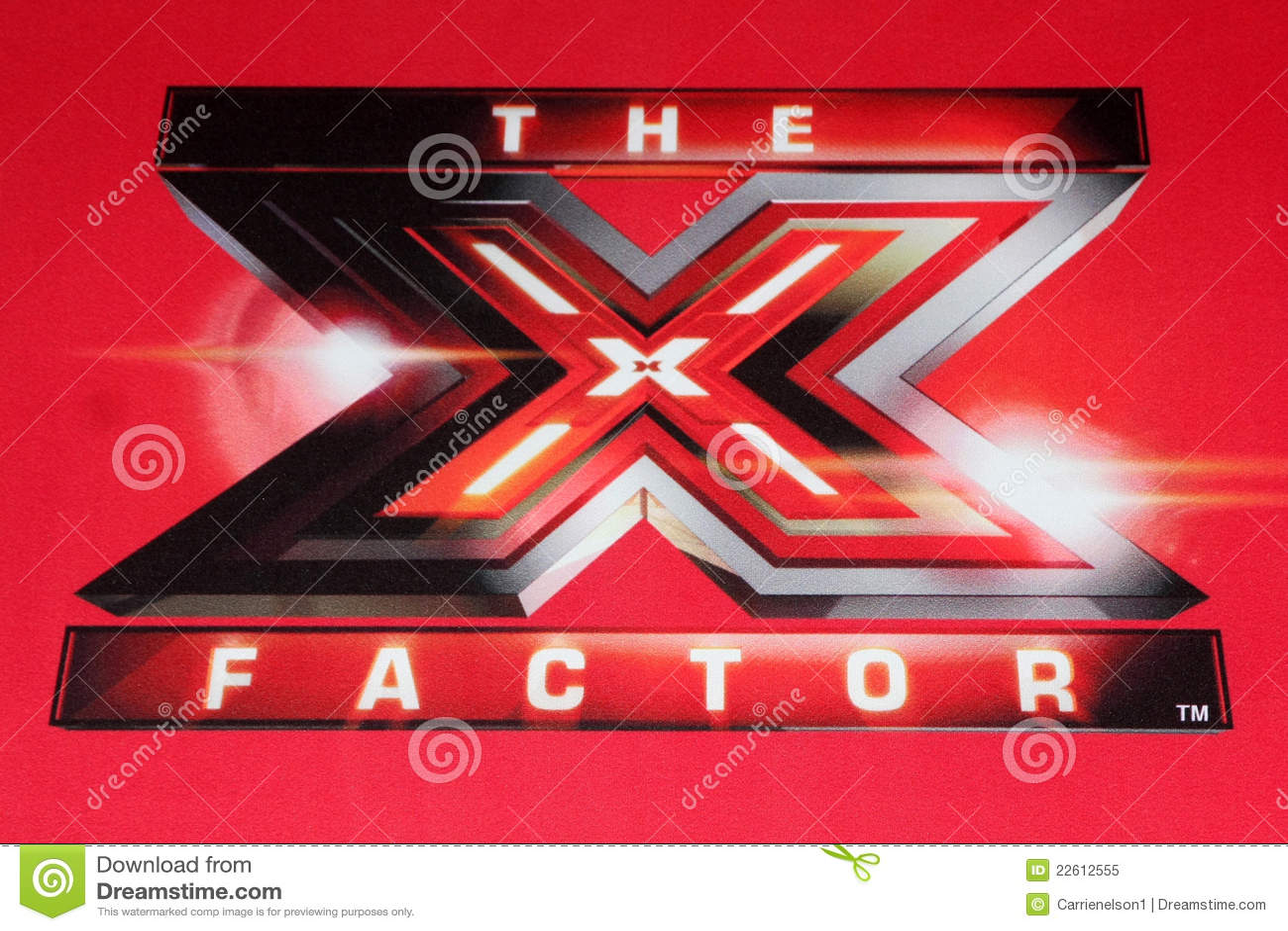x factor logo at the foxs editorial image image of press