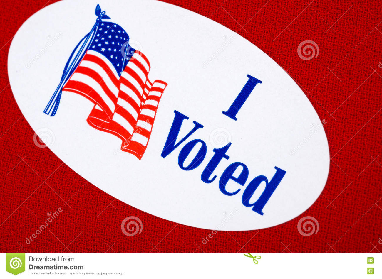 """Voters Remorse >> """"I Voted"""" Stickers On Red And Blue Stock Image   CartoonDealer.com #79947055"""
